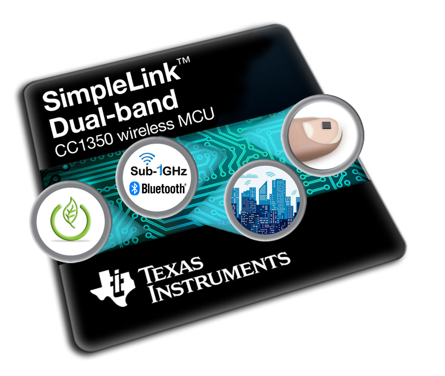 The SimpleLink™ dual-band CC1350 wireless MCU for Sub-1 GHz and Bluetooth low energy connectivity on a single chip