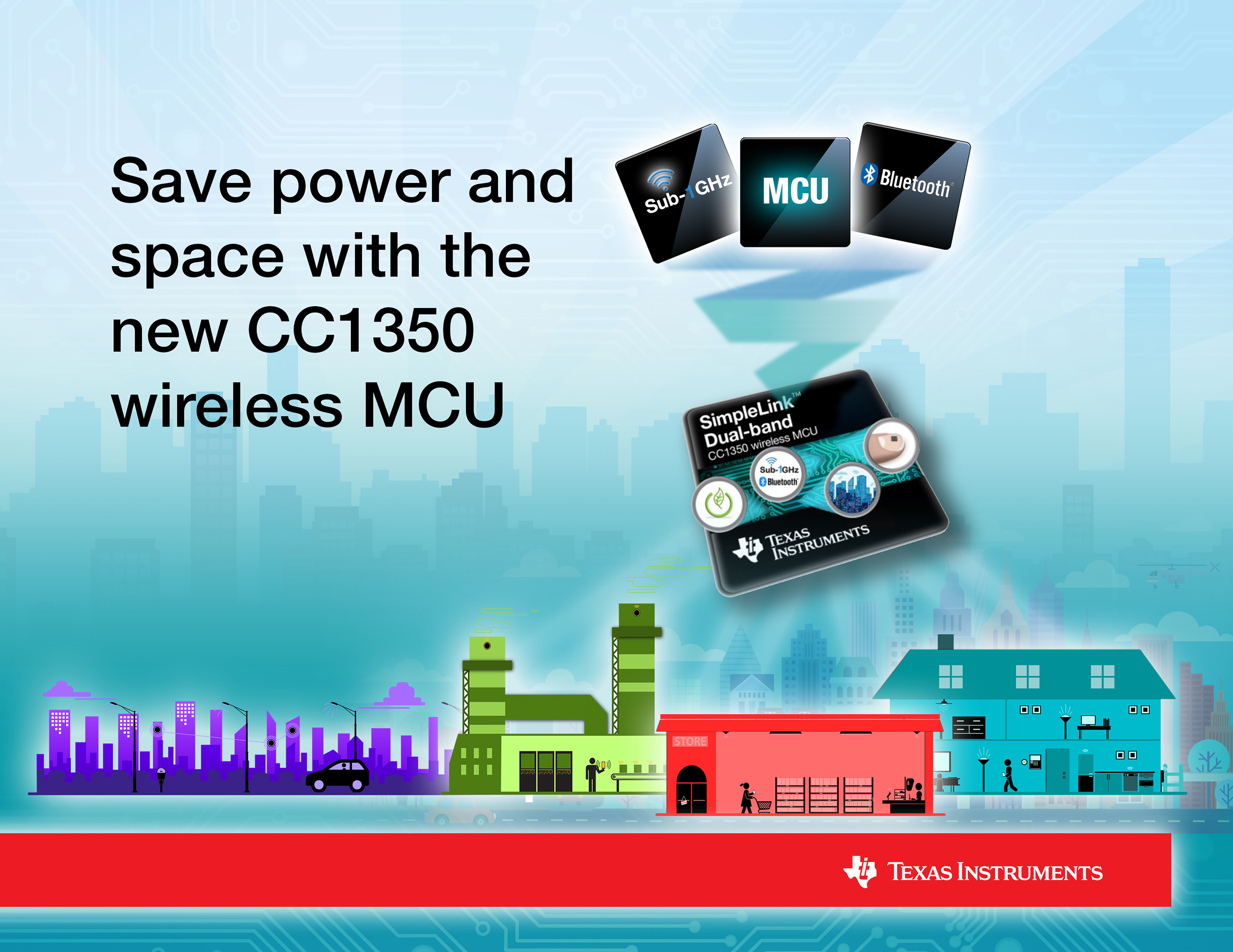 Save power and space with the new CC1350 wireless MCU from TI