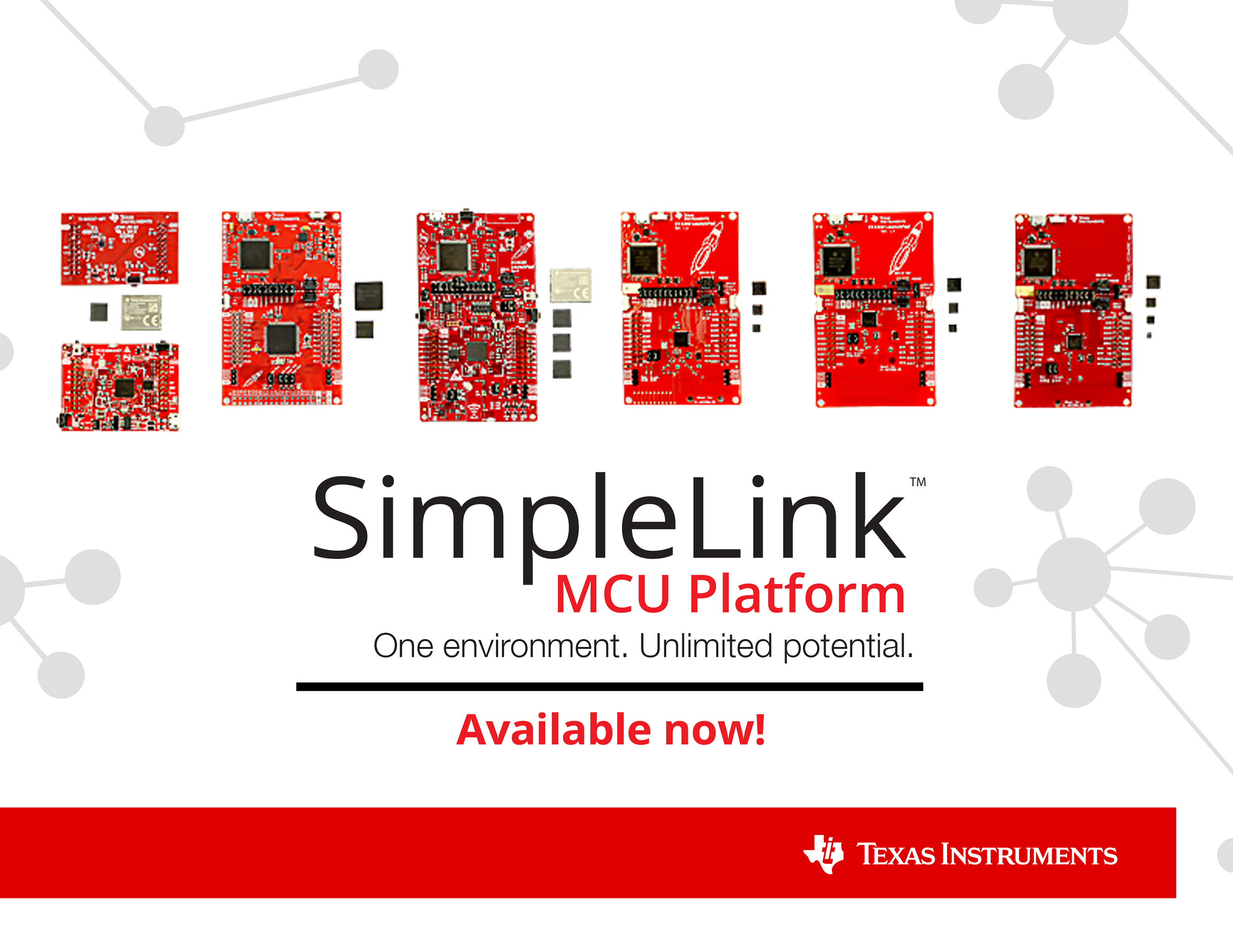 TI�s new SimpleLink platform transforms development with 100 percent code reuse across the industry�s broadest portfolio of wired and wireless MCUs