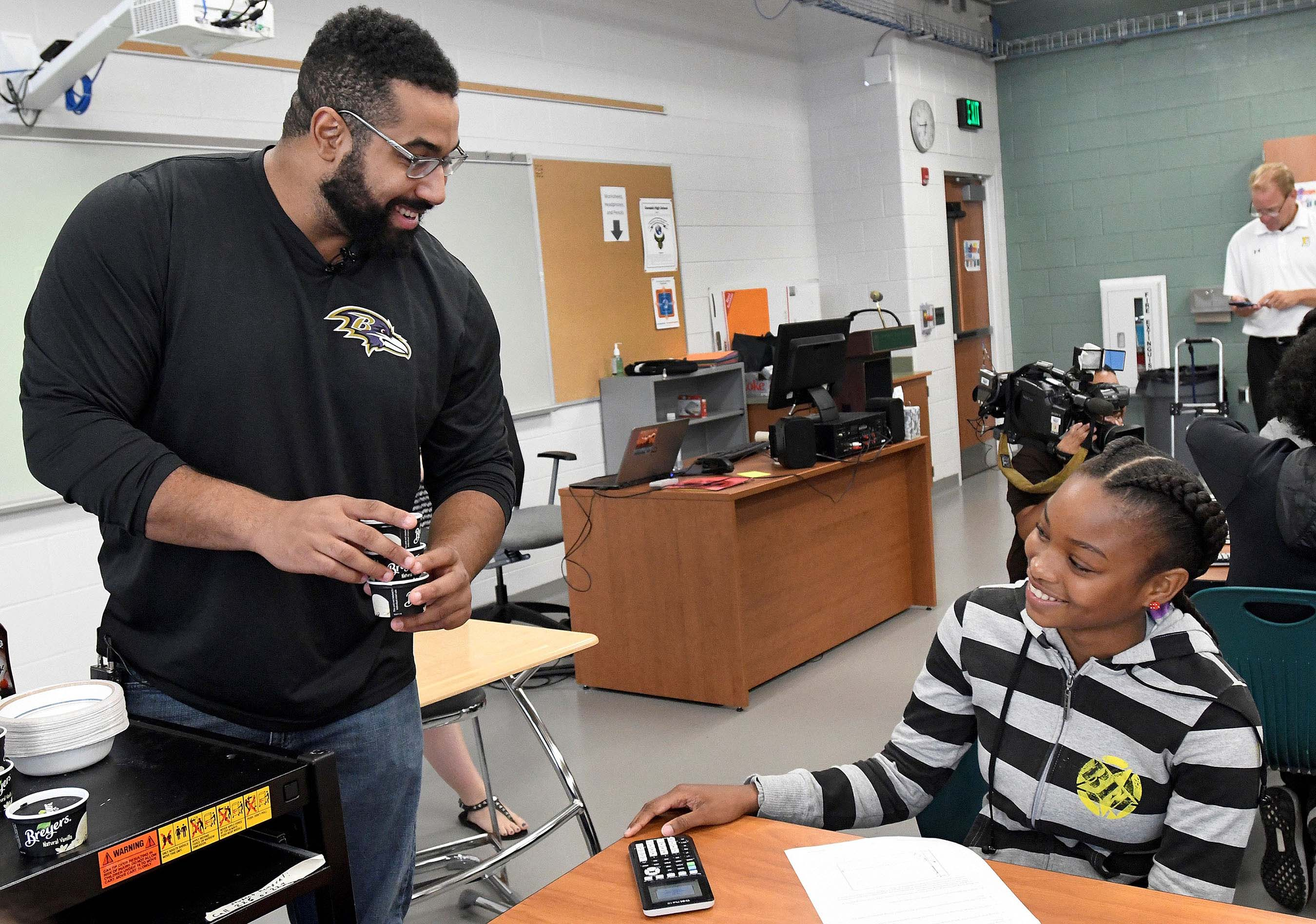 Urschel and students fuse ice cream and science with STEM Behind Cool Careers activity.