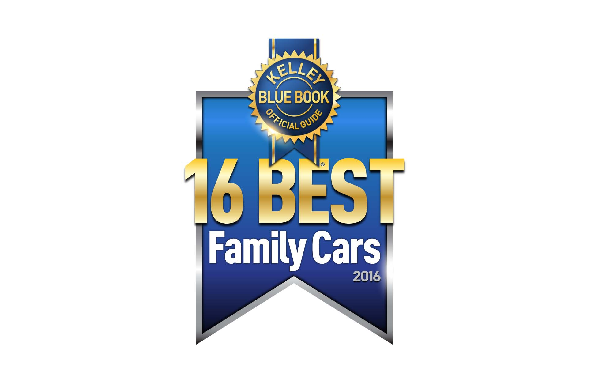 After extensively testing two dozen Best Family Cars finalists, the KBB.com editors decided upon a list of 16 vehicles that they feel best fit the title of Kelley Blue Book Best Family Cars of 2016.