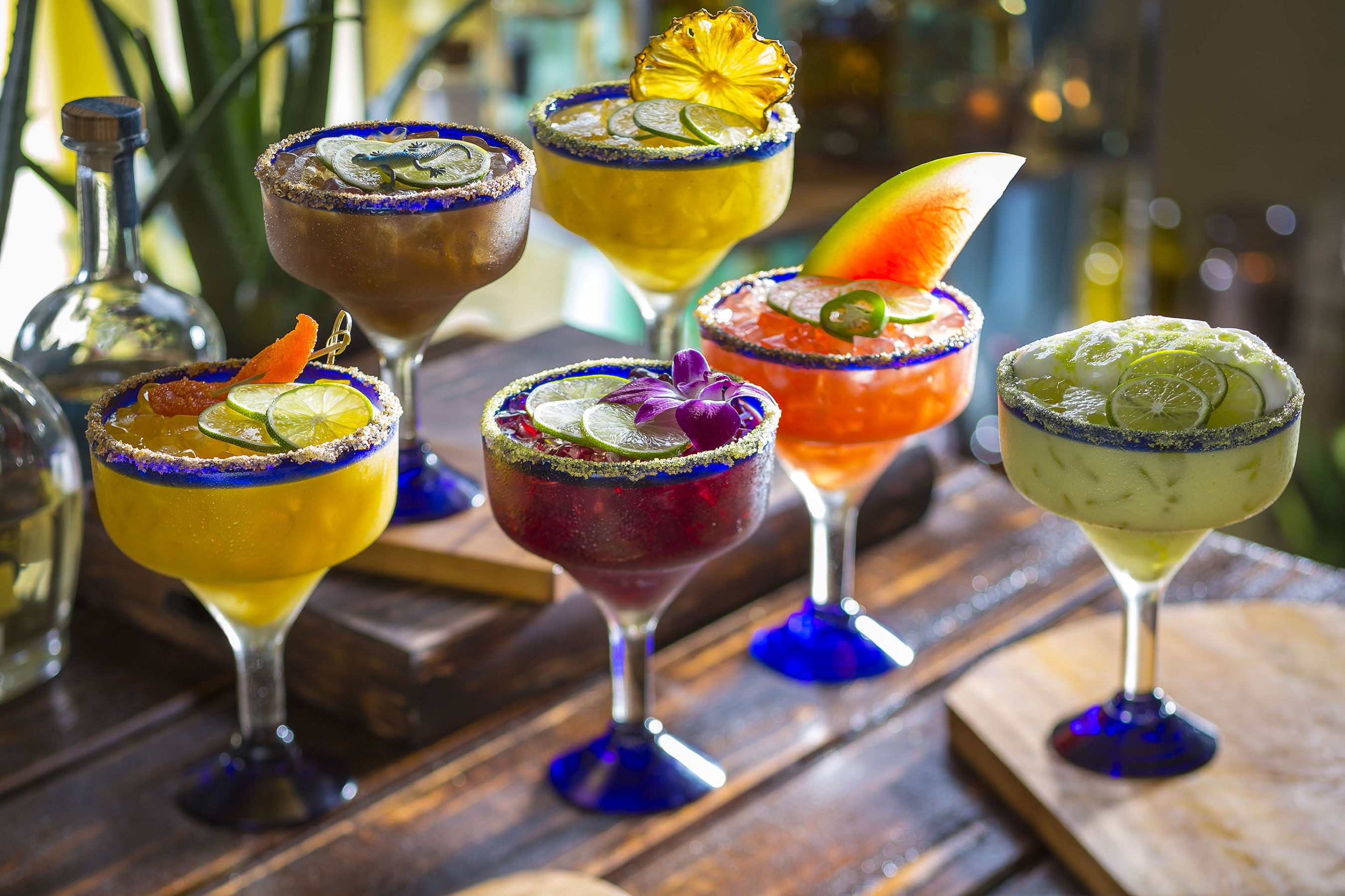 Six new handcrafted margaritas of sassy and spicy goodness! – Tamarind Margarita, Grilled Pineapple, MangoRita, Hibiscus, Watermelon Jalapeno and Key Lime Pie