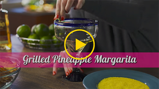 Featuring one of our new sweet and tangy margaritas, the Grilled Pineapple Margarita is a mix of grilled pineapple, tequila and Falernum syrup. Learn how to make your own!