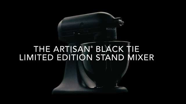 KitchenAid® Introduces Limited Edition Artisan® Black Tie Stand Mixer