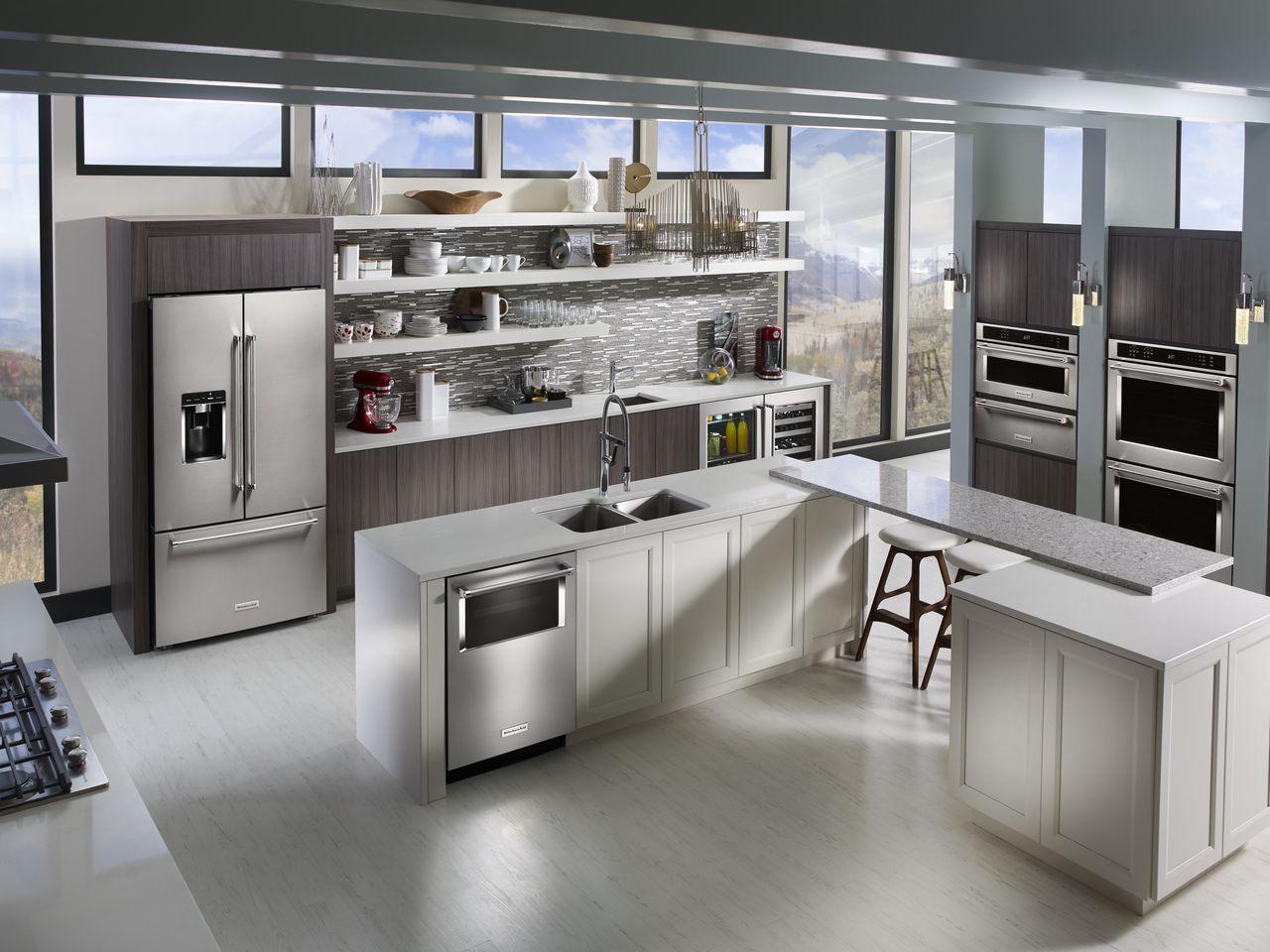 KitchenAid Introduces Three-Door Free Standing Refrigerator
