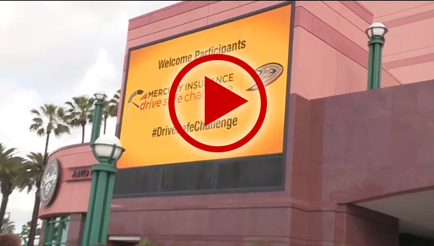 Thirty seconds worth of clips from the inaugural Mercury Insurance Drive Safe Challenge at Honda Center on March 6, 2016