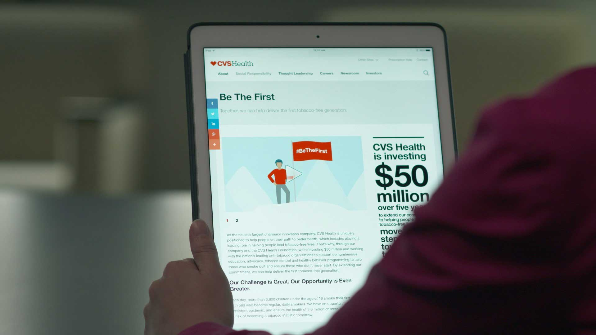 Visit www.cvshealth.com/bethefirst for more information on CVS Health's expanded commitment to tobacco-free living.
