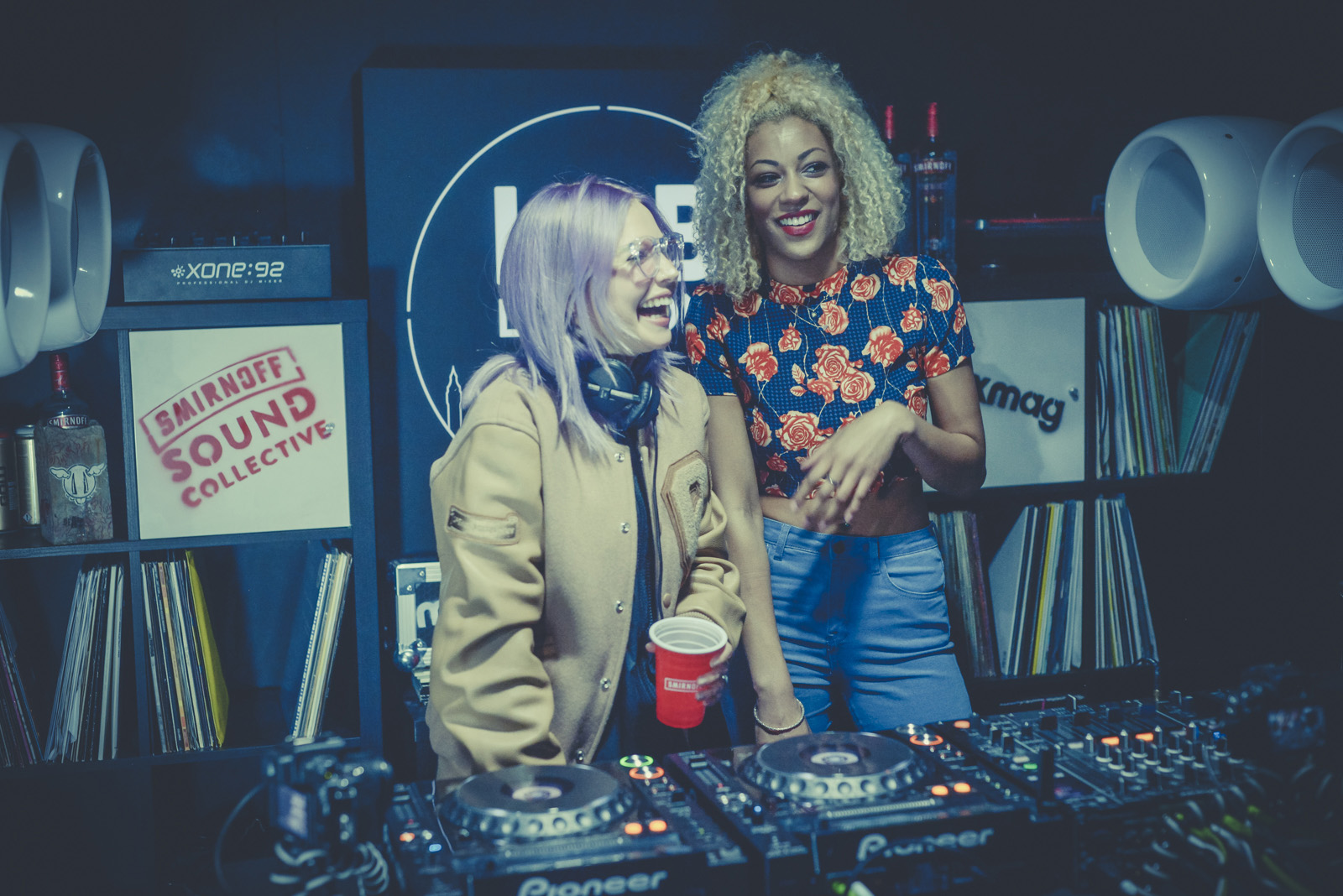 Traits plays for a crowd at the Mixmag X Smirnoff Sound Collective Lab in Sydney, Australia in support of International Women's Day alongside Mixmag presenter Sarah Lamptey