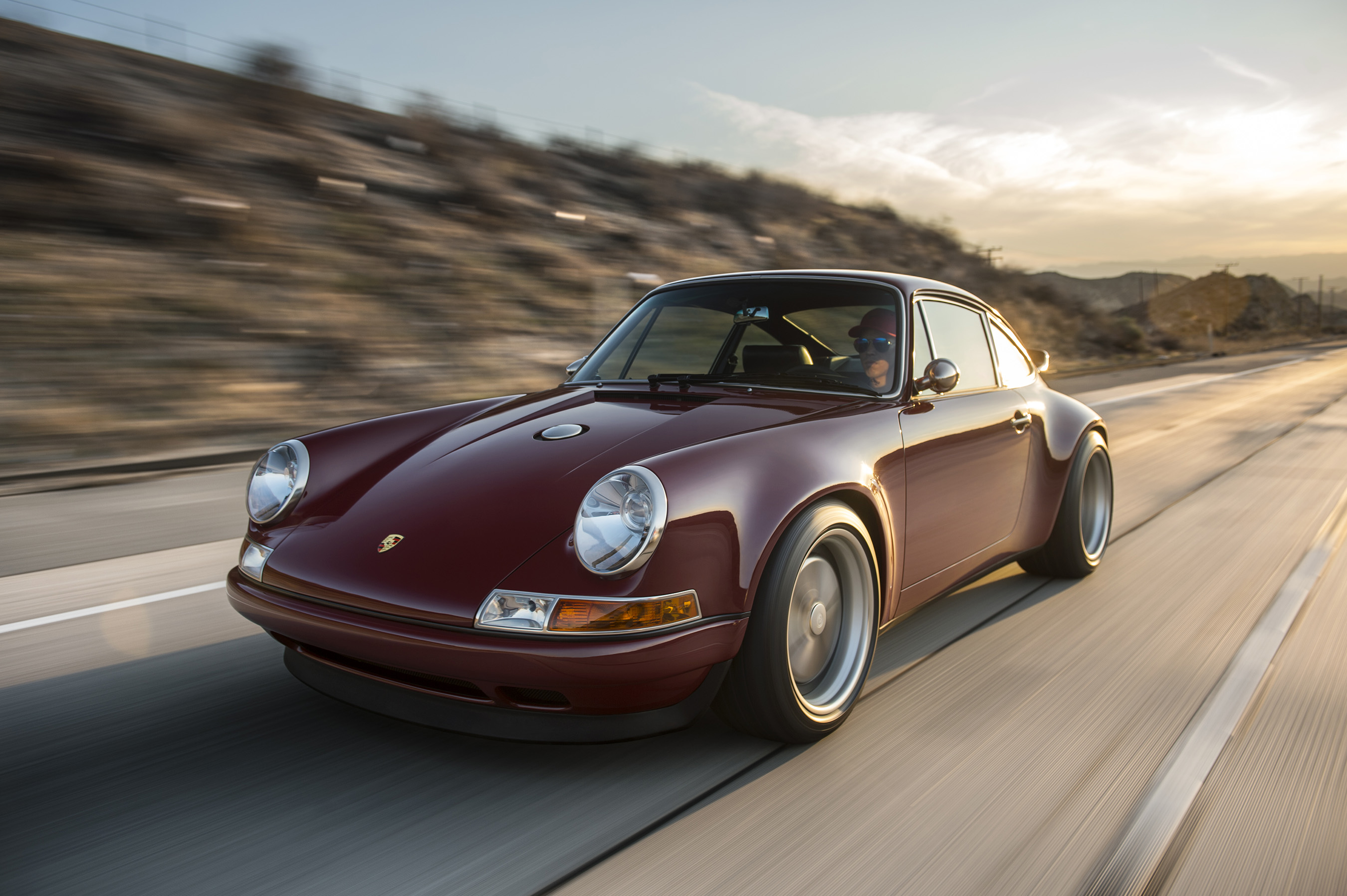 The first Singer restoration to wear a 'clean sides' look, without the customary racing side-stripes, 'North Carolina' is a 1991 Porsche 911 gaining its performance through a 4.0-liter Ed Pink Racing Engine