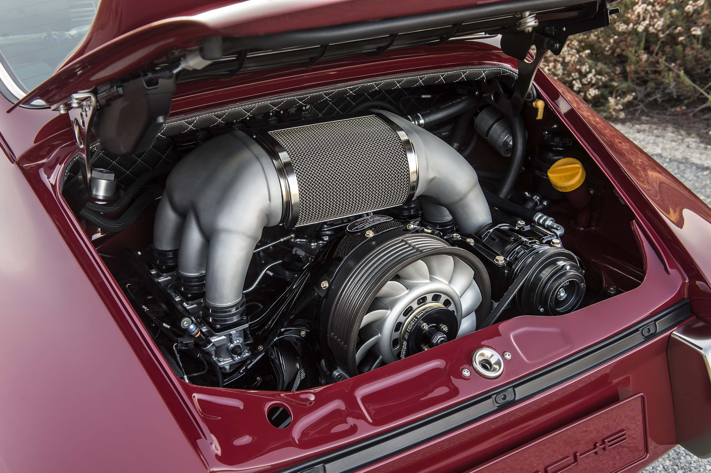 All 4-liter, 6-speed engines for Porsche 911's restored by Singer Vehicle Design reach 390hp and are made exclusively for Singer by Ed Pink Racing Technologies