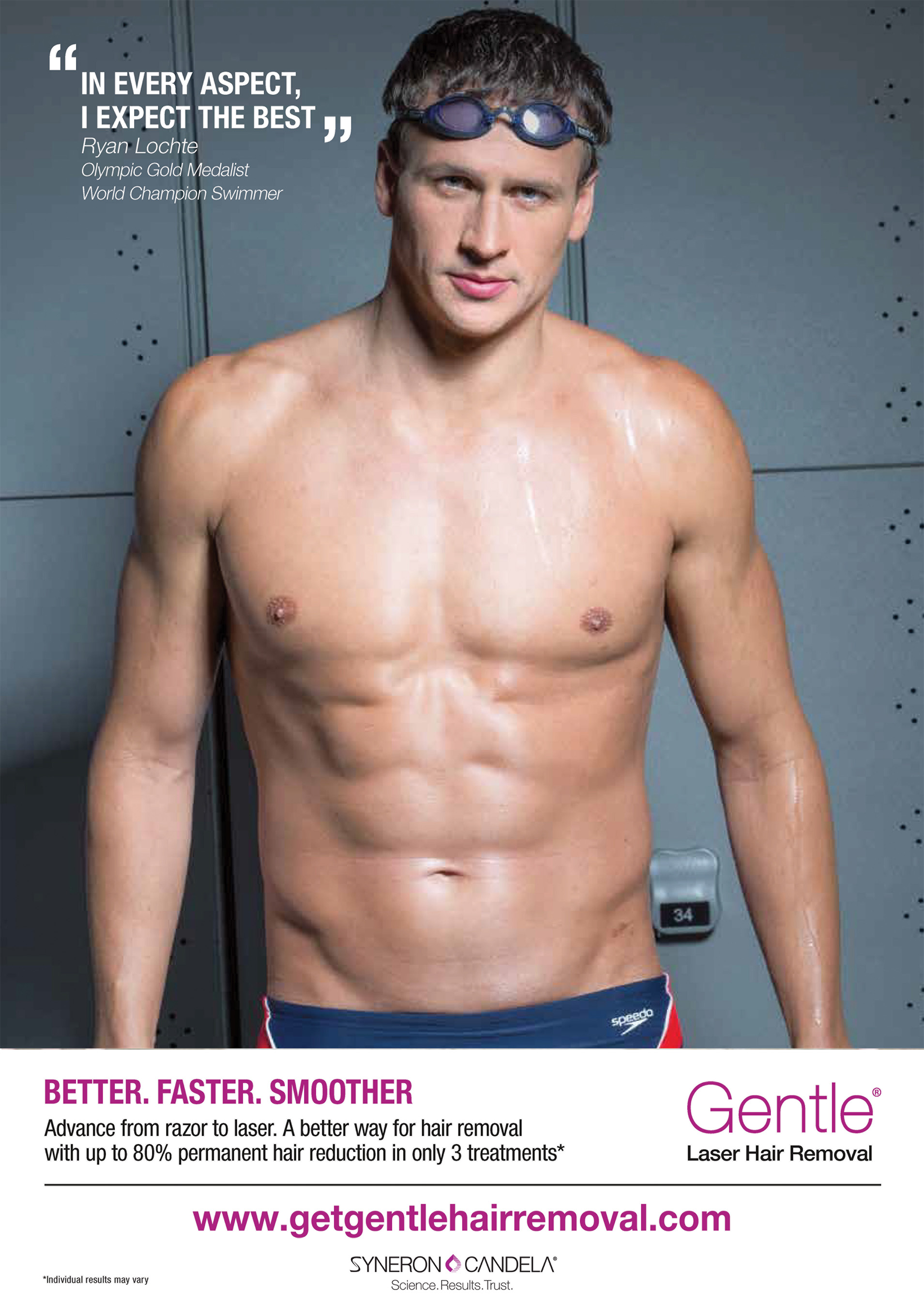 Ryan Lochte expects the best in every aspect of his life – including his hair removal