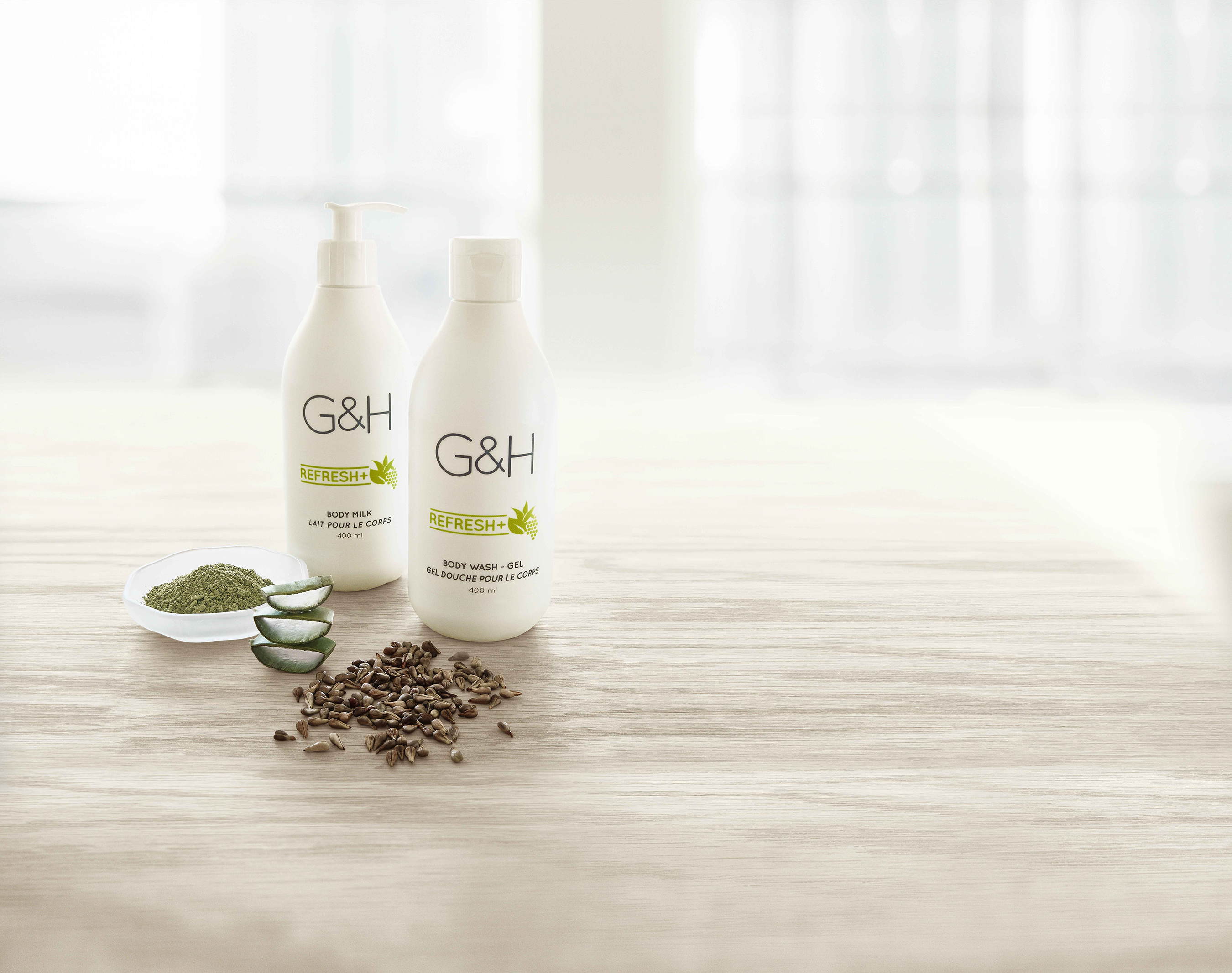 G&H Refresh+™ - Revitalizing body care refreshes, hydrates and soothes skin with lightweight and gentle formulas.