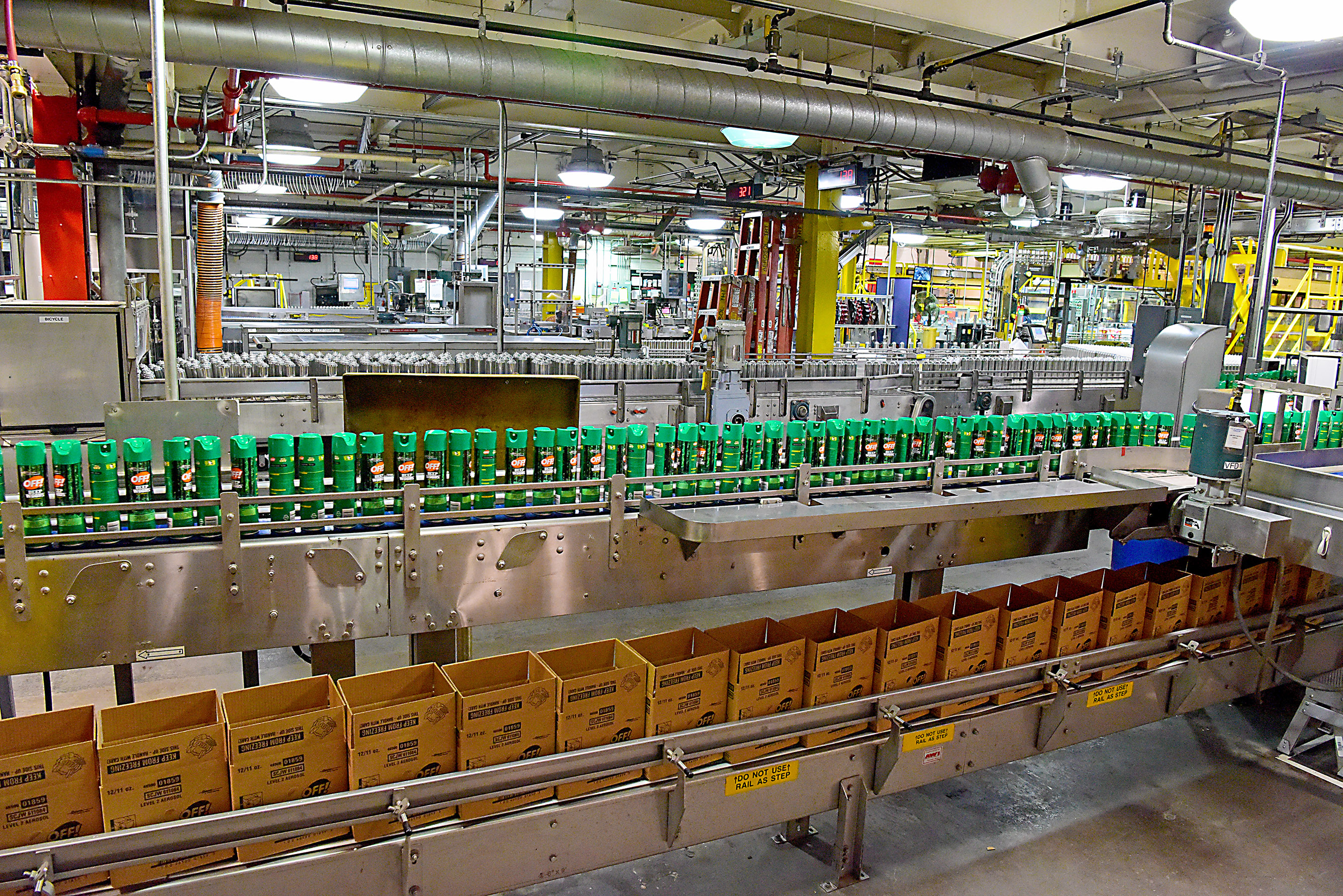 OFF!® Deep Woods personal repellent in production at SC Johnson's Waxdale manufacturing facility