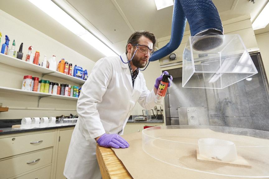 SC Johnson entomologist testing Raid® product