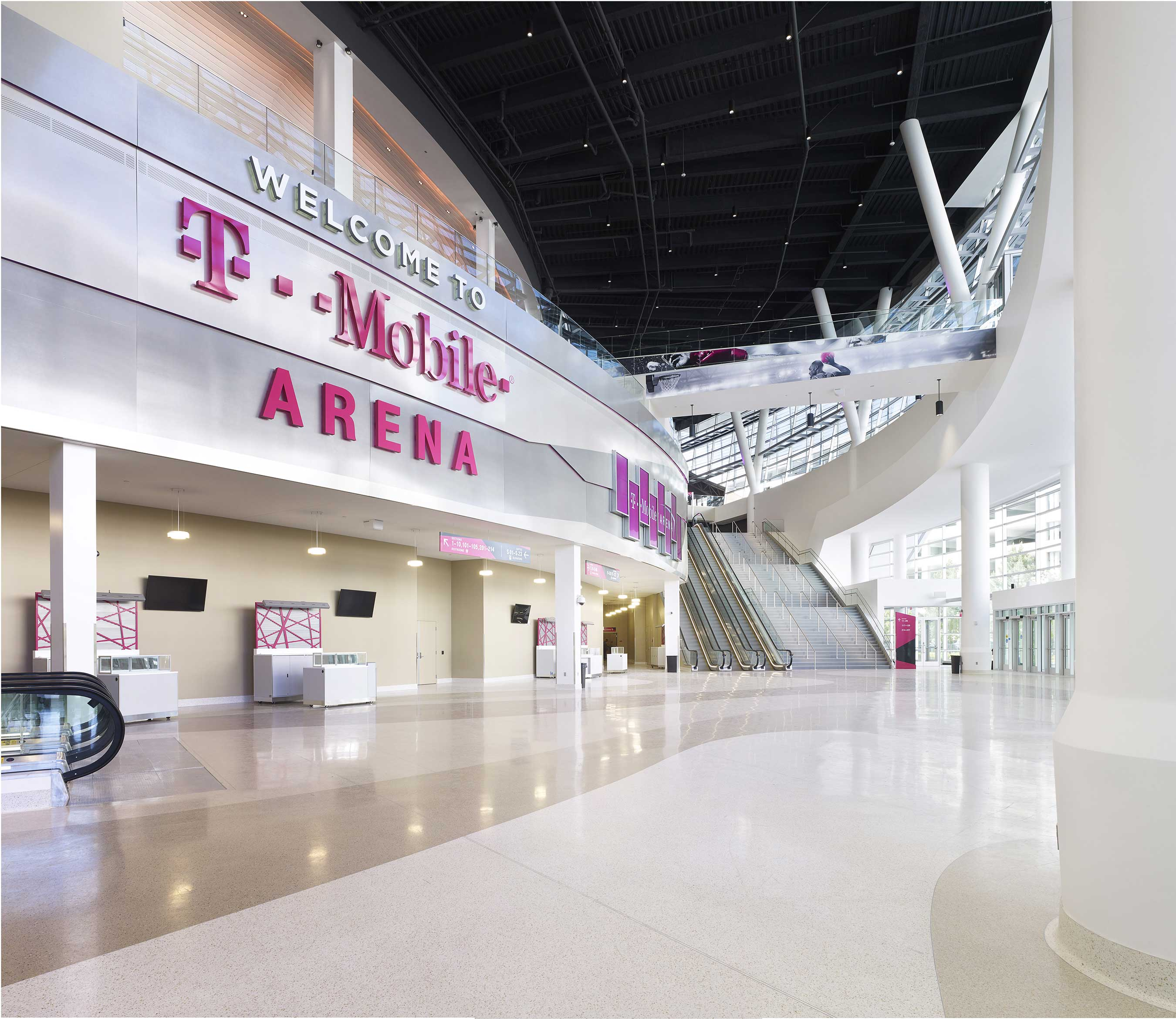 The T-Mobile Arena can host 20,000 fans for events including all-star music headliners UFC, boxing, NHL and NBA games, awards shows and more.