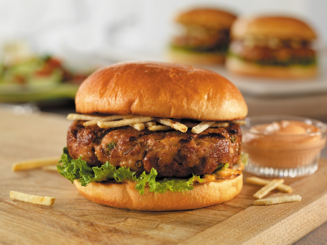 A departure from the typical burger, this version includes ground pork and chorizo, creamy Thousand Island dressing and shoestring potatoes. Your grill (and your taste buds) will thank you.