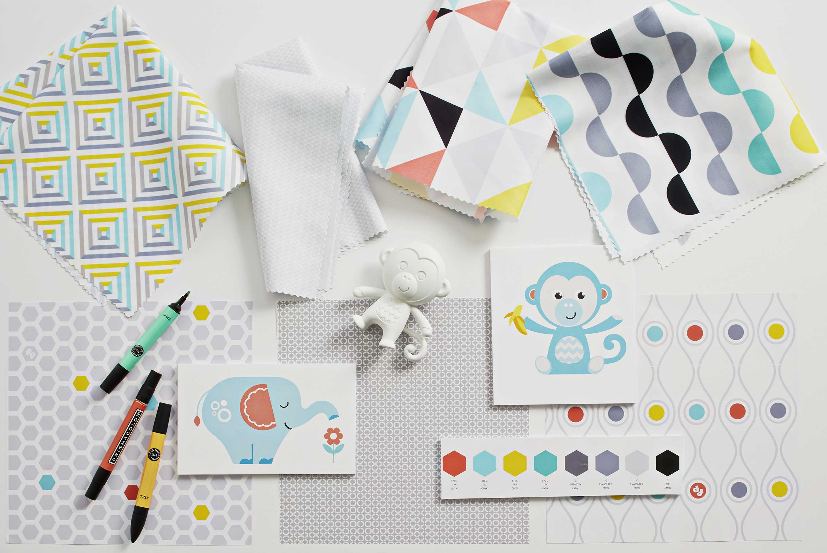 In his newly announced role as Creative Director of Fisher-Price, Jonathan Adler will consult on style direction for the brand and create modern prints and animal characters for future baby gear and toys.