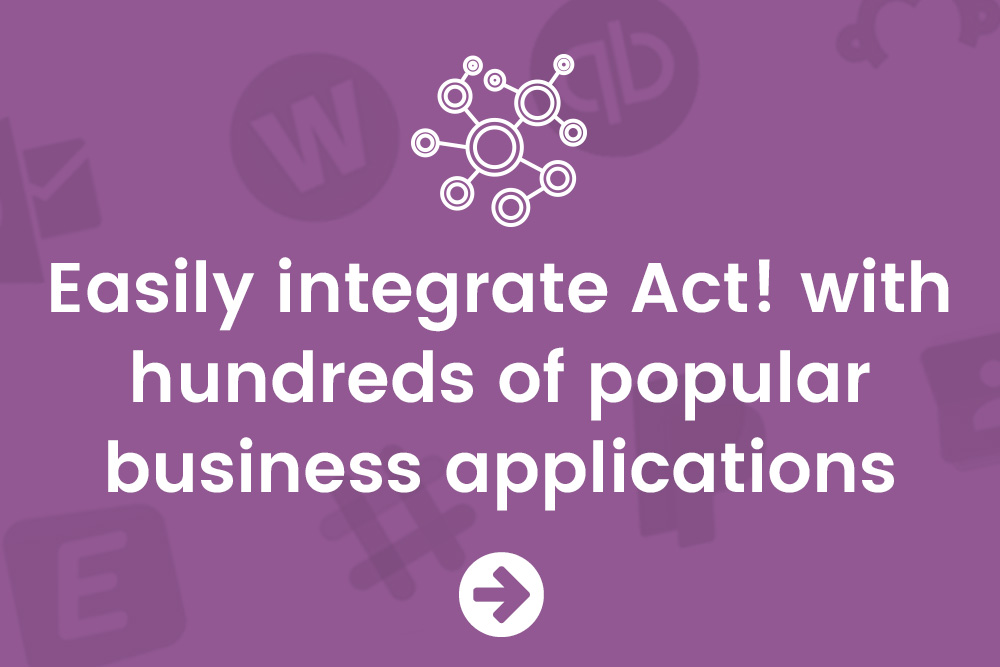 Integrate with ease using Act! Connect