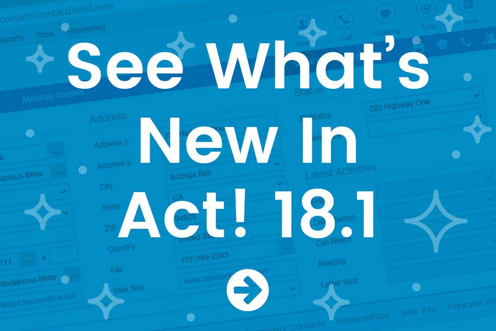 See What's New in Act! 18.1
