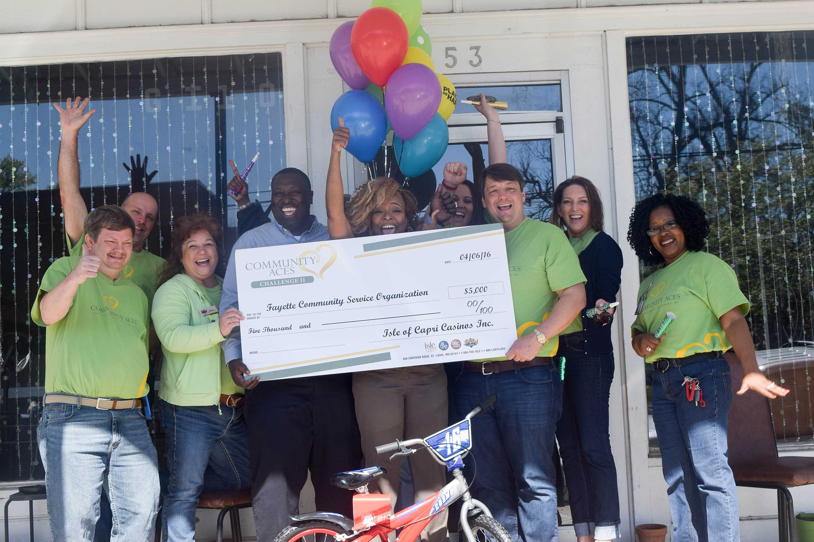 Fayette Community Service Organization, based in Fayette, Mississippi, was granted $5,000 toward the purchase of bicycles for its Get Fit program.