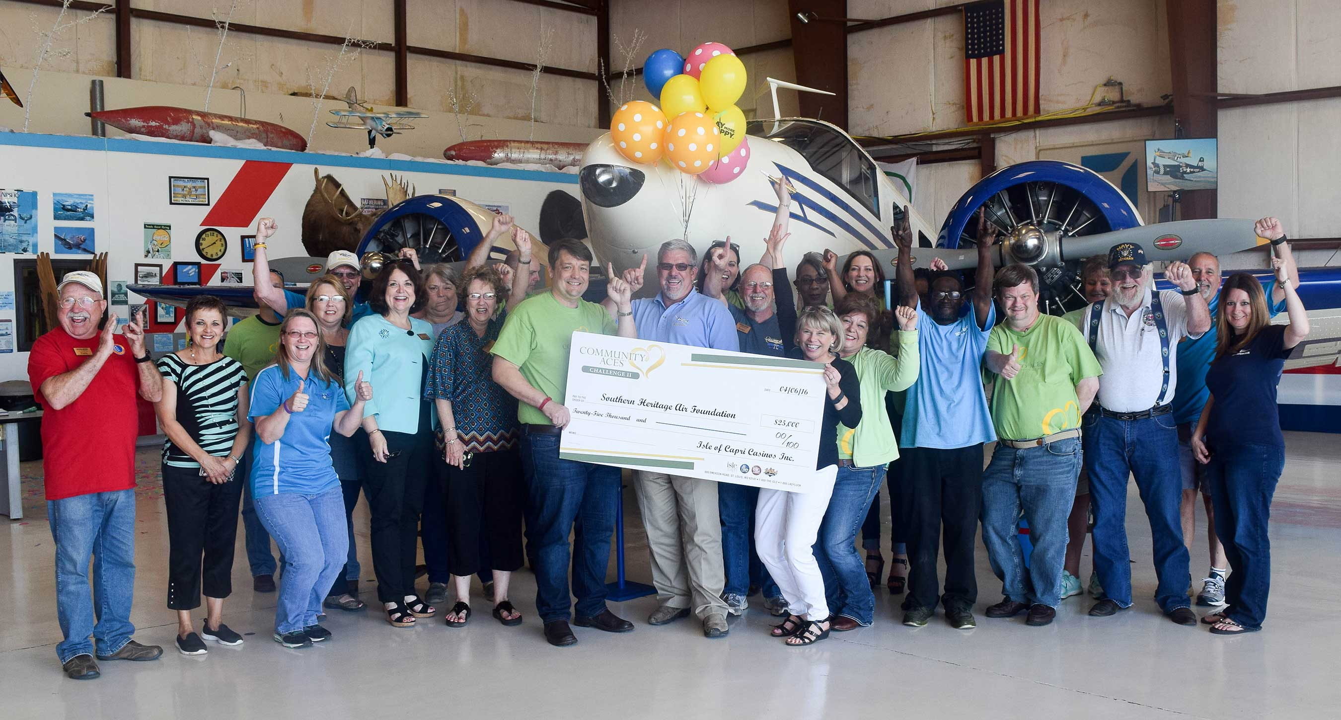 Southern Heritage Air Foundation, based in Tallulah, Louisiana, garnered over 6,000 votes to take home $25,000 in Community Aces Challenge 2