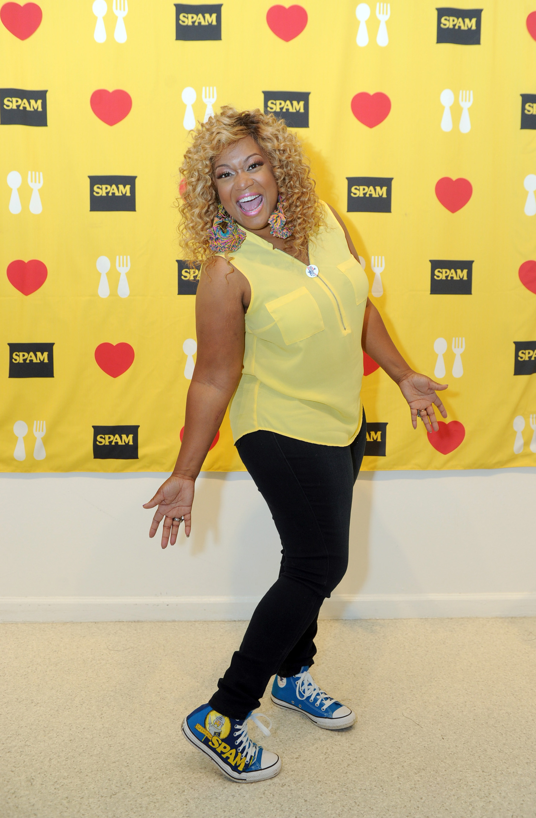 Food Network host and U.S. Air Force veteran Sunny Anderson, kicked-off the National SPAMERICAN(TM) Food Truck Tour and Operation Gratitude Partnership, Monday, April 18, 2016 in New York.