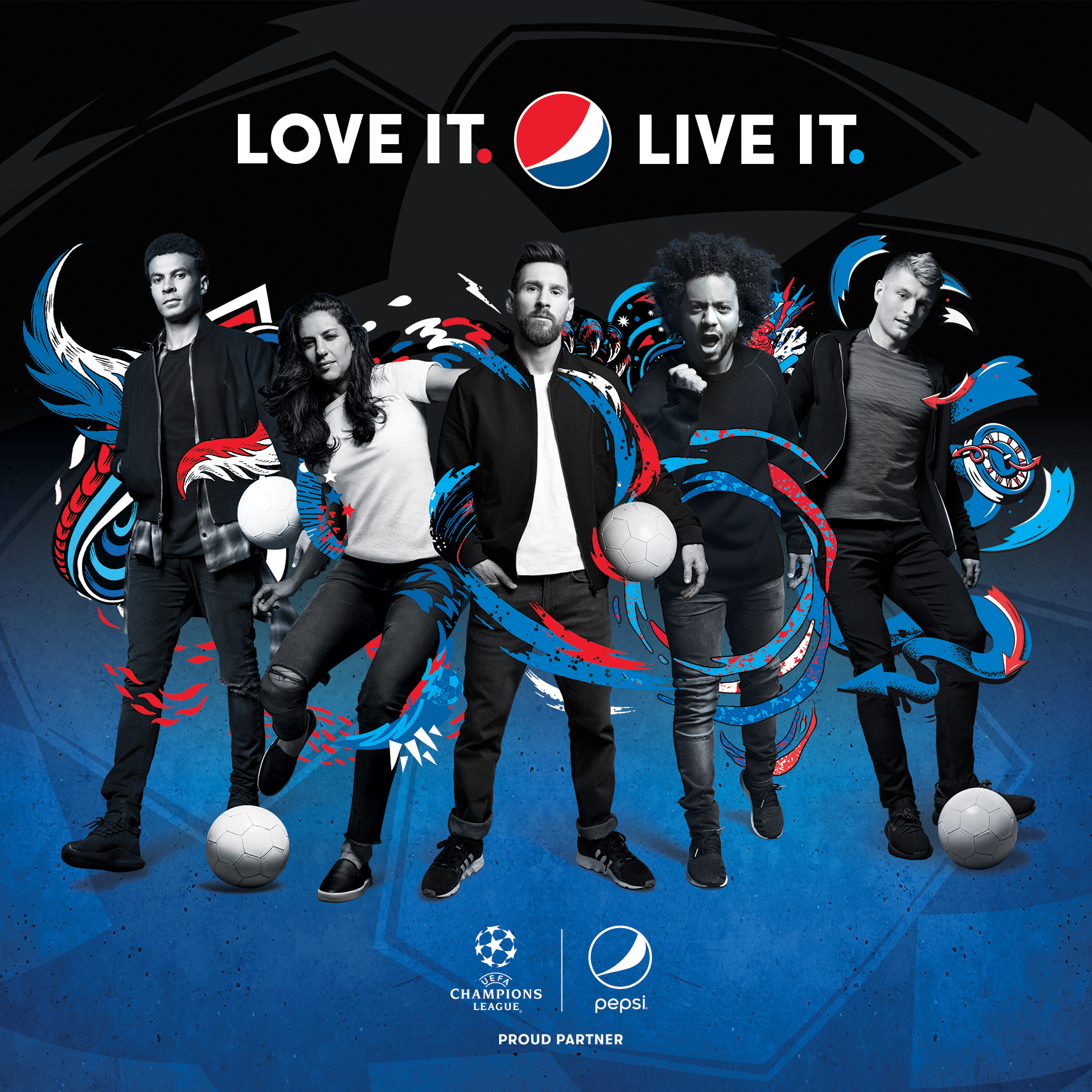 Painting The World Blue: Pepsi® Loves And Lives Football
