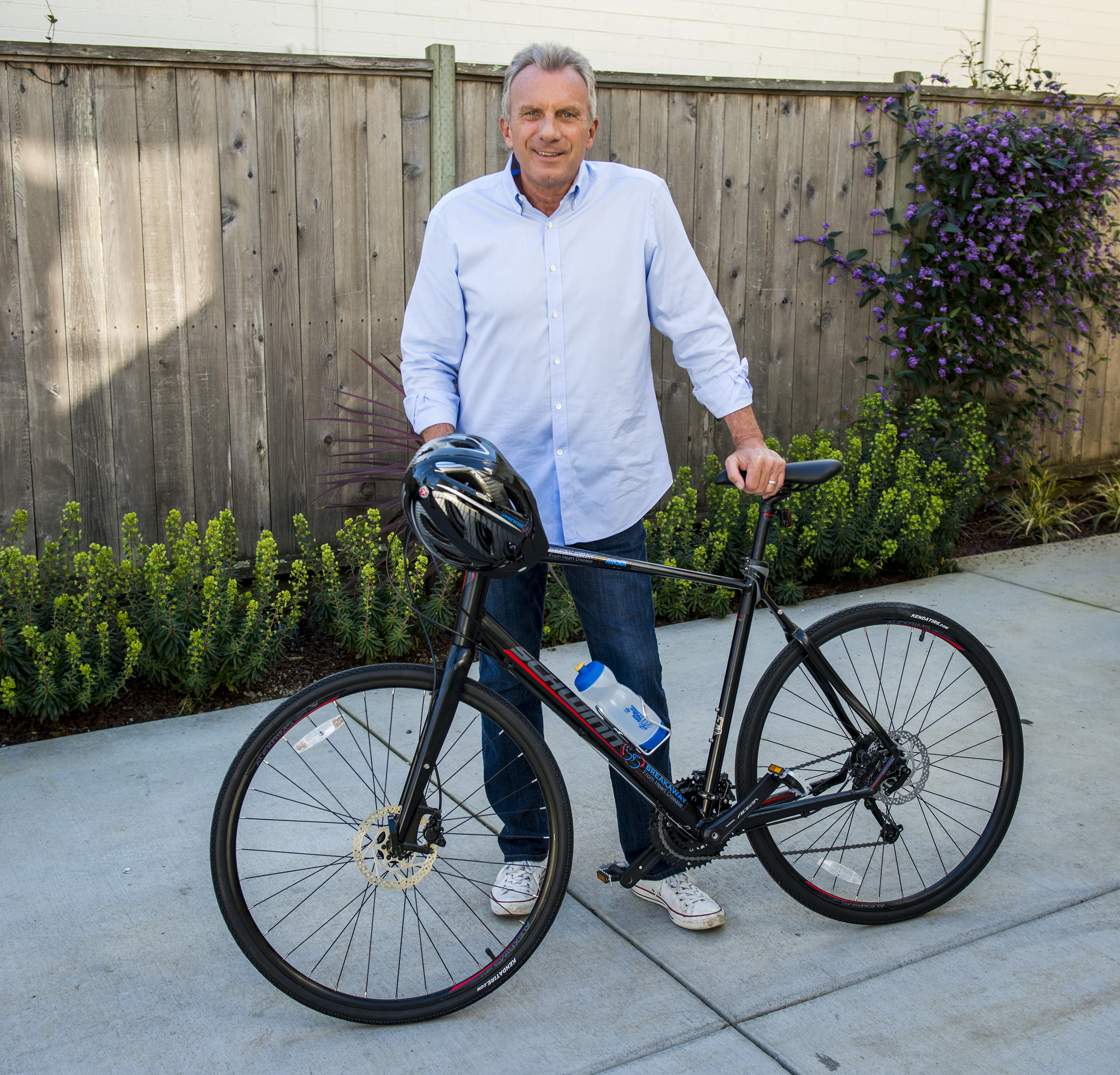 Joe Cycles for Heart Health