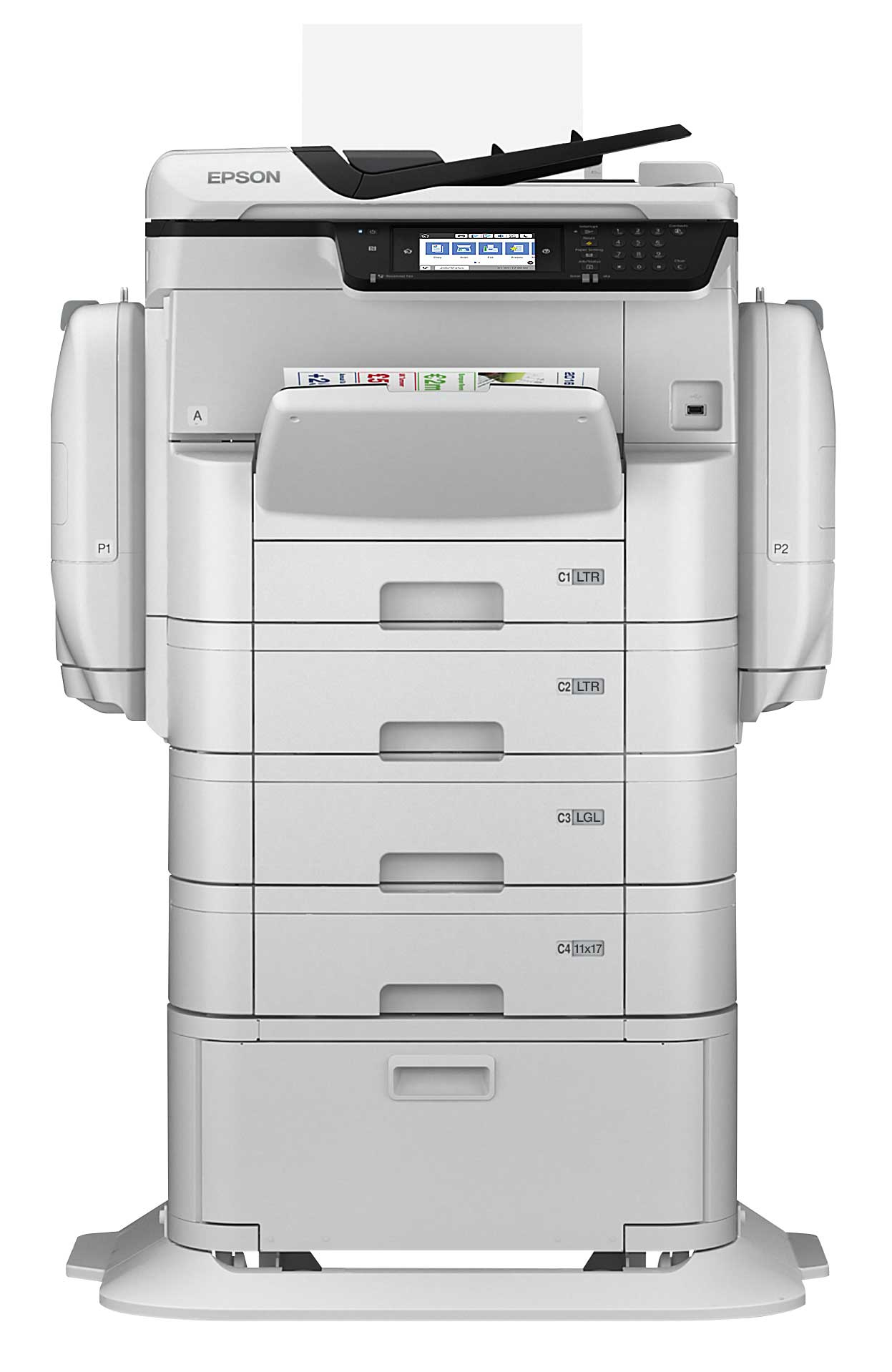 Epson WorkForce Pro WF-C869R with Optional Paper Trays and Stand