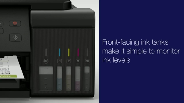 New Epson EcoTank Supertank cartridge-free printers offer a revolutionary refillable ink system with up to two years of ink in the box and feature new uniquely keyed auto-stop ink bottles.