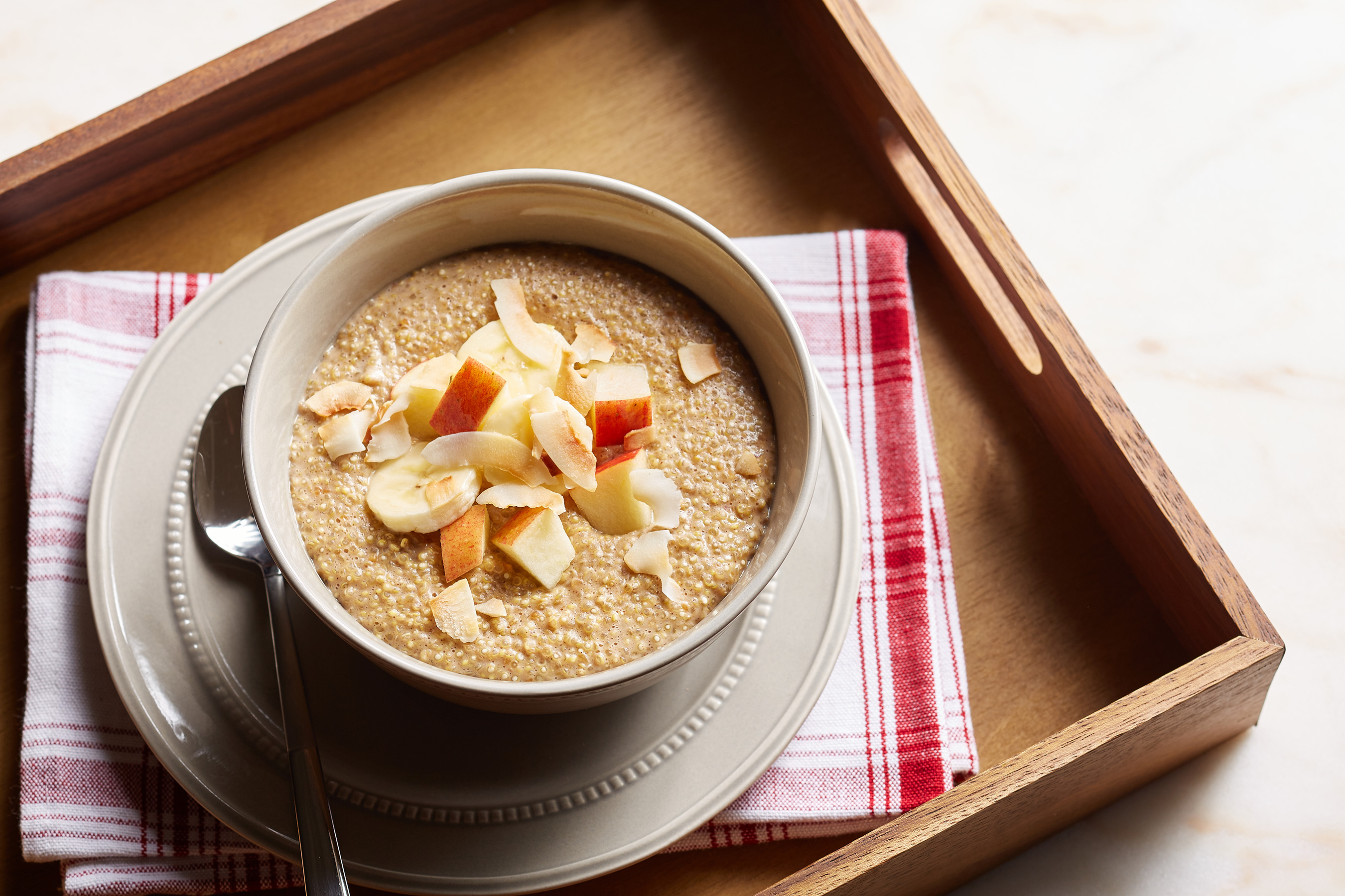Chef Catherine De Orio created this easy, make-ahead breakfast bowl for the #GreatAmericanCookIn Challenge. It's packed with protein and mixed with naturally sweet honey and Peter Pan Simply Ground Peanut Butter, which adds delicious peanut flavor, a lot of creaminess and just a hint of crunch. The best part about this meal is it can be made the night before so all you need to do is heat it up the next morning! Check out Chef Catherine's Protein Breakfast Recipes for more ways to start your day with a protein!