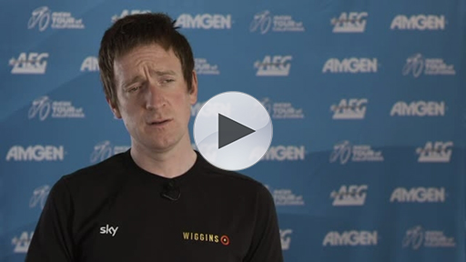 Three-time Olympic Gold Medalist and Tour de France Champion Sir Bradley Wiggin (GBR) discusses the Amgen Tour of California as a factor for Olympic team selection.
