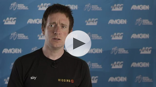 Three-time Olympic Gold Medalist and Tour de France Champion Sir Bradley Wiggin (GBR) discusses the caliber of the riders and level of competition found at the Amgen Tour of California.