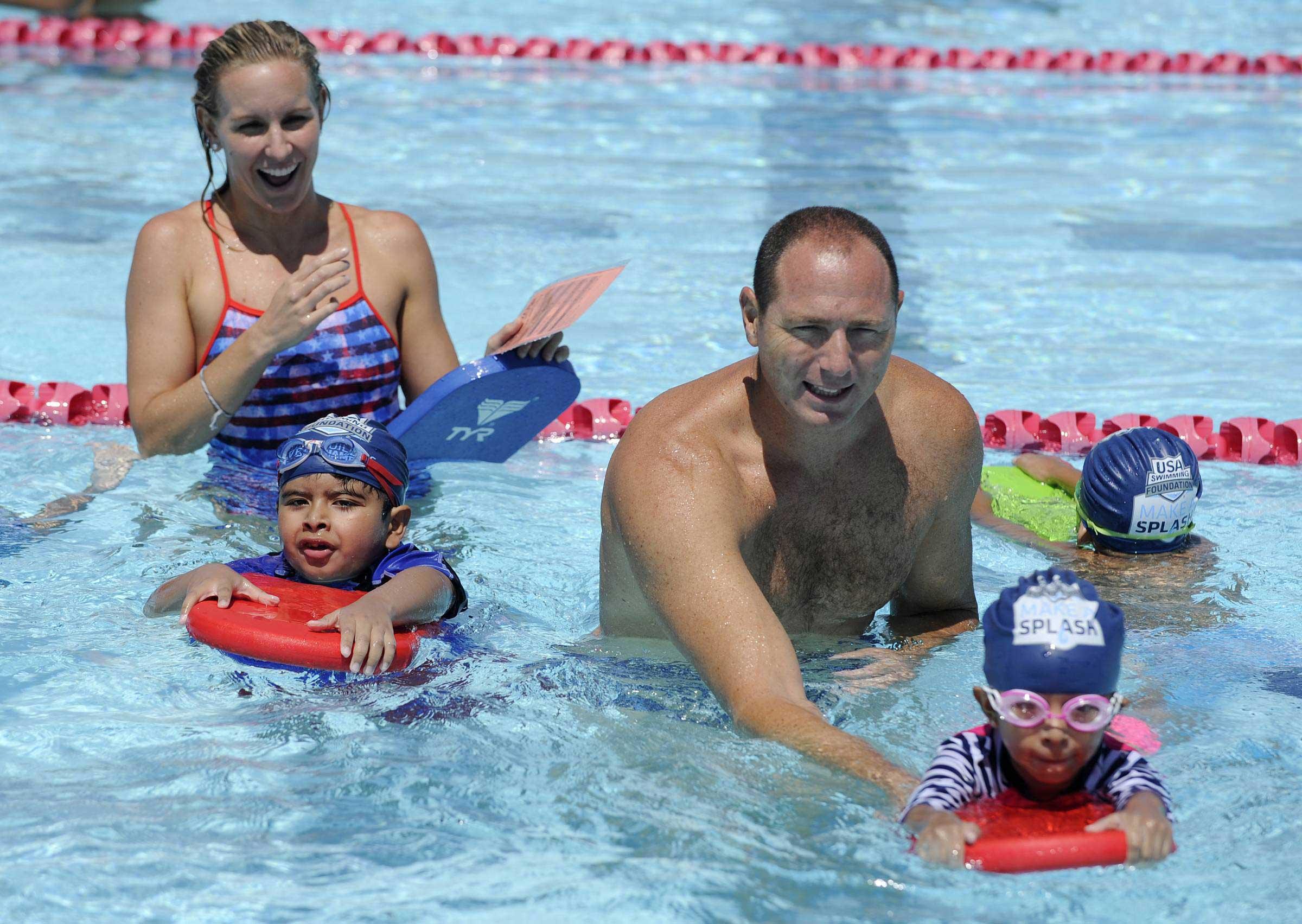 August 2, 2016, Long Beach, CA. Pre-school children participate in USA Swimming Foundation's first ever Make a Splash Games event.