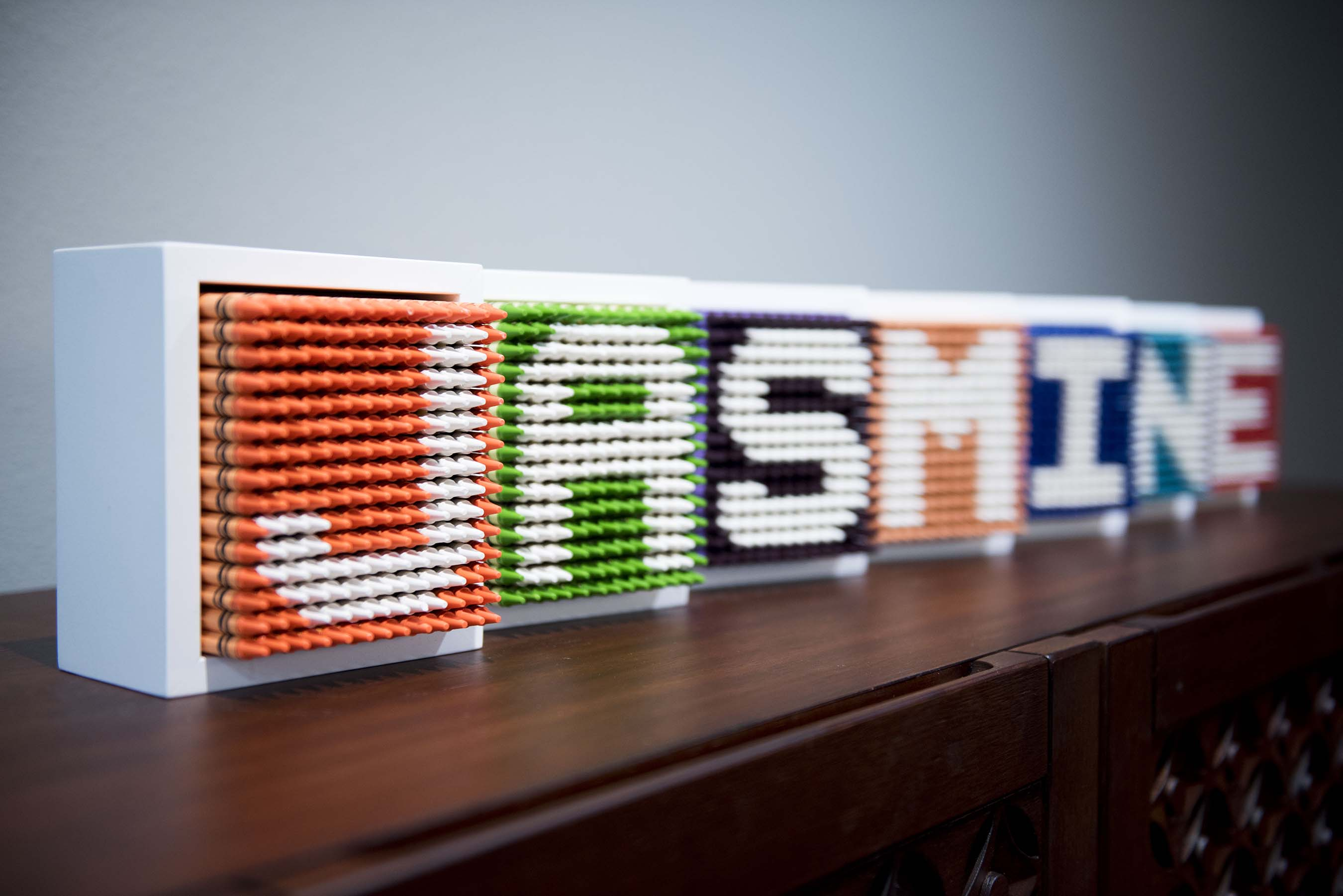 Colorworks letters used as room décor