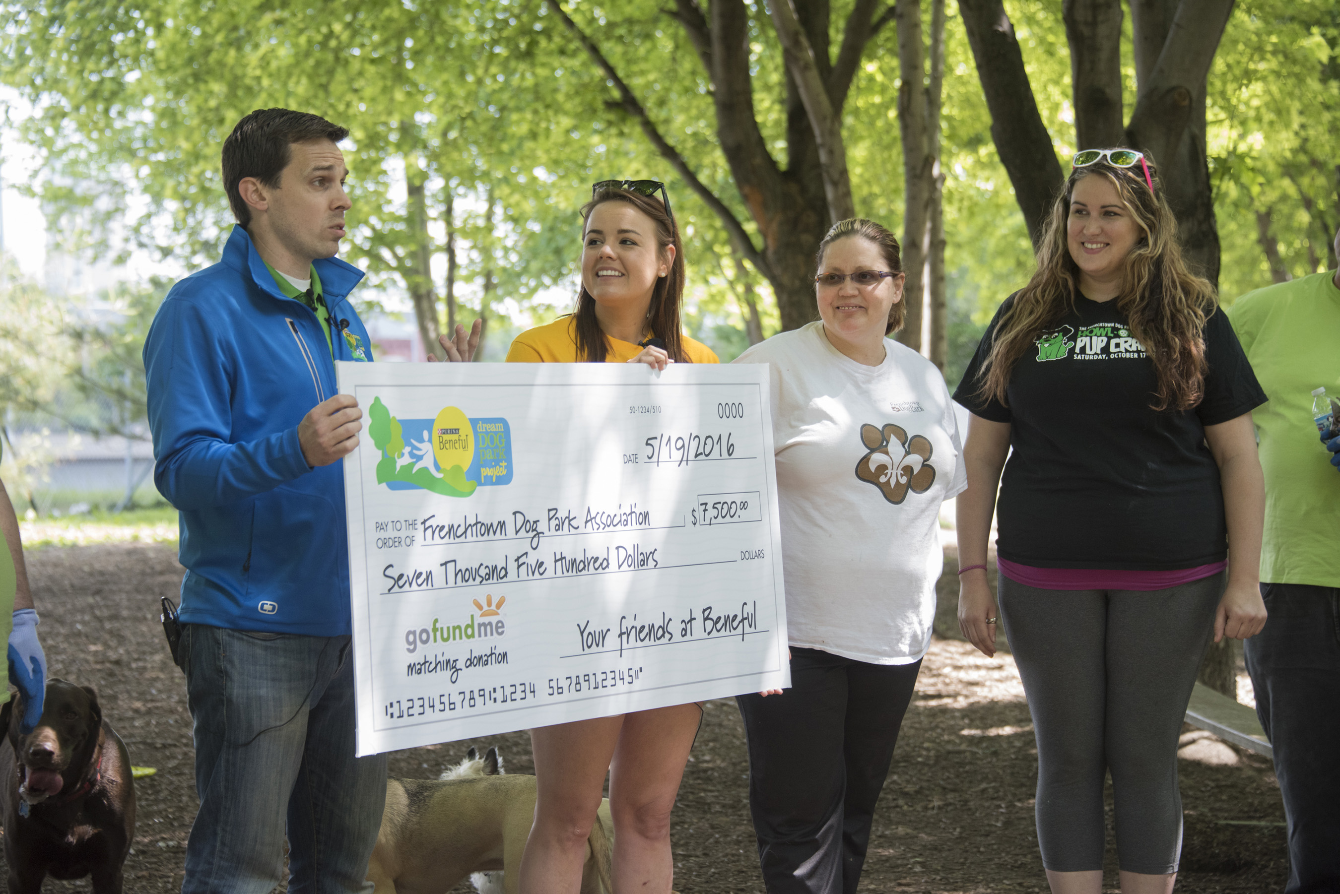 Dozens of volunteers participated in the first Beneful Dream Dog Park Project service day of 2016 at the Frenchtown Dog Park in St. Louis, MO on May 19, 2016.