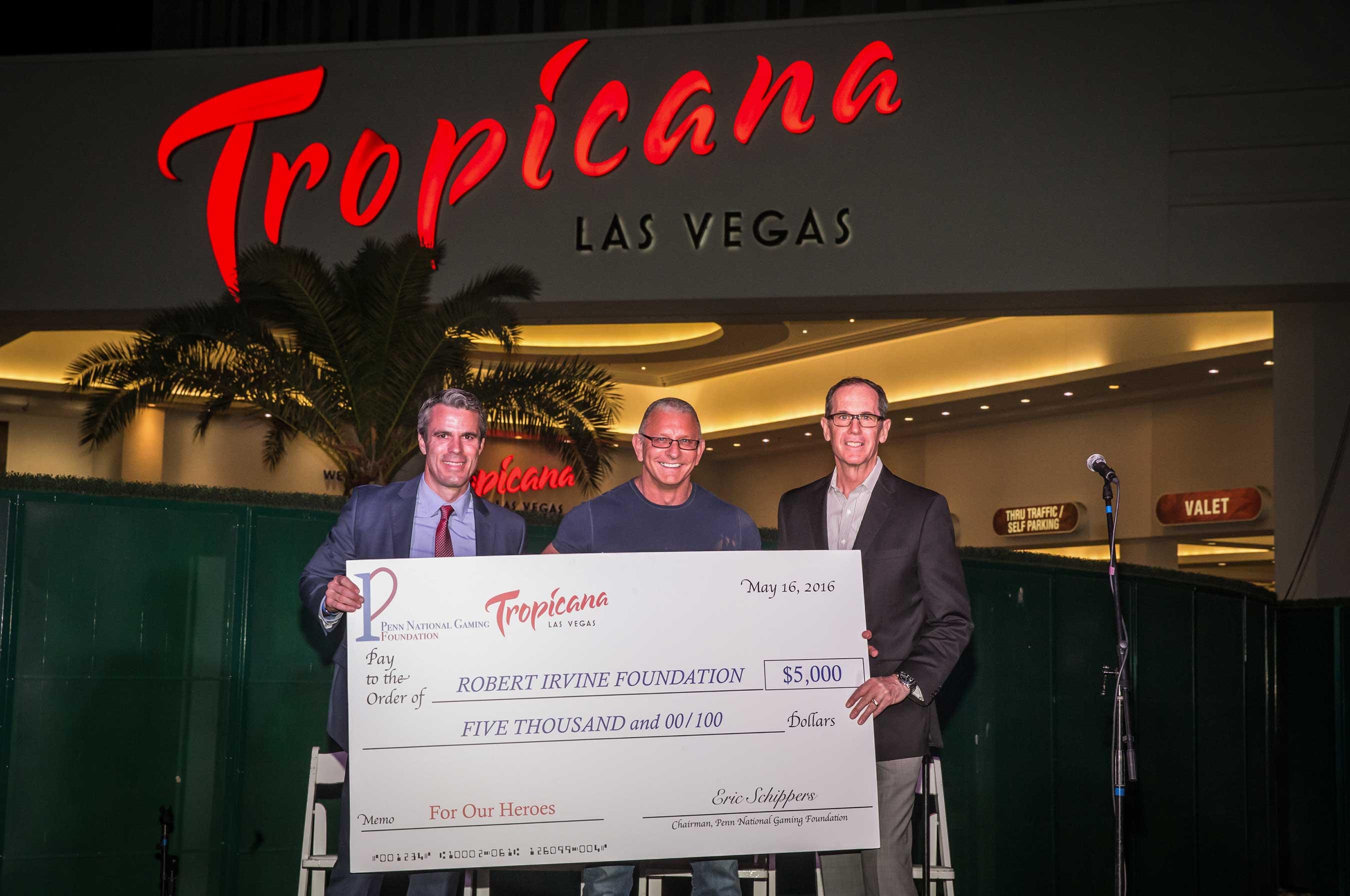 Tropicana Las Vegas presents Chef Irvine with a $5,000 check   Credit: Erik Kabik Photography/ MediaPunch
