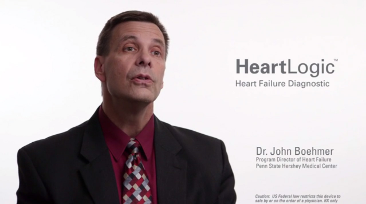 Dr. John Boehmer explains that the HeartLogic™ Heart Failure Diagnostic can help physicians treat the exasperation of heart failure before the patient even knows they have it.