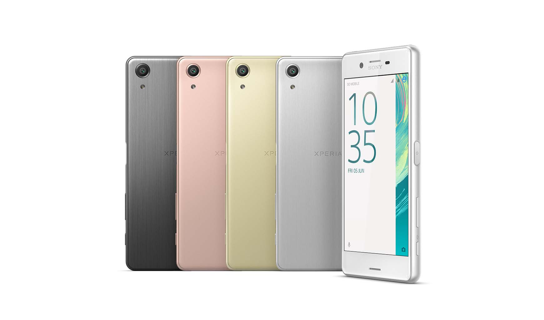 The Xperia X series was skillfully crafted by designers who strive to create a phone with the perfect hand fit for users. Available in White, Graphite Black, Lime Gold and Rose Gold.