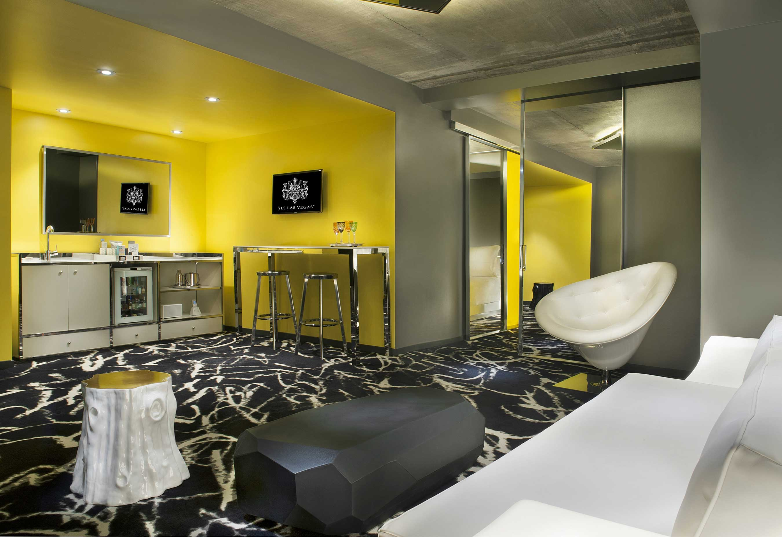 Story Tower Guest Rooms at SLS Las Vegas