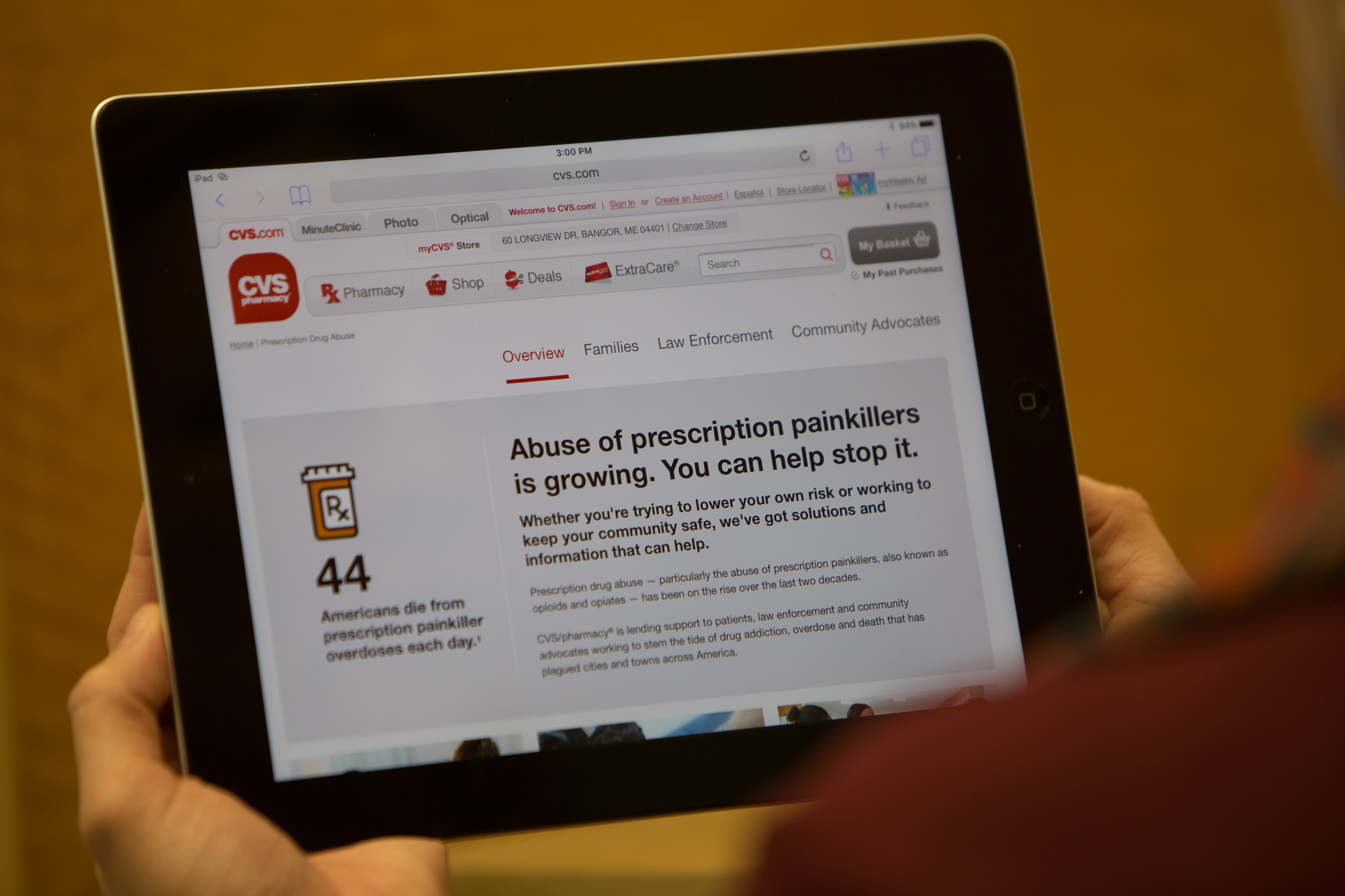 CVS Pharmacy patients can visit CVS.com for resources on proper medication use and disposal to prevent prescription drug abuse