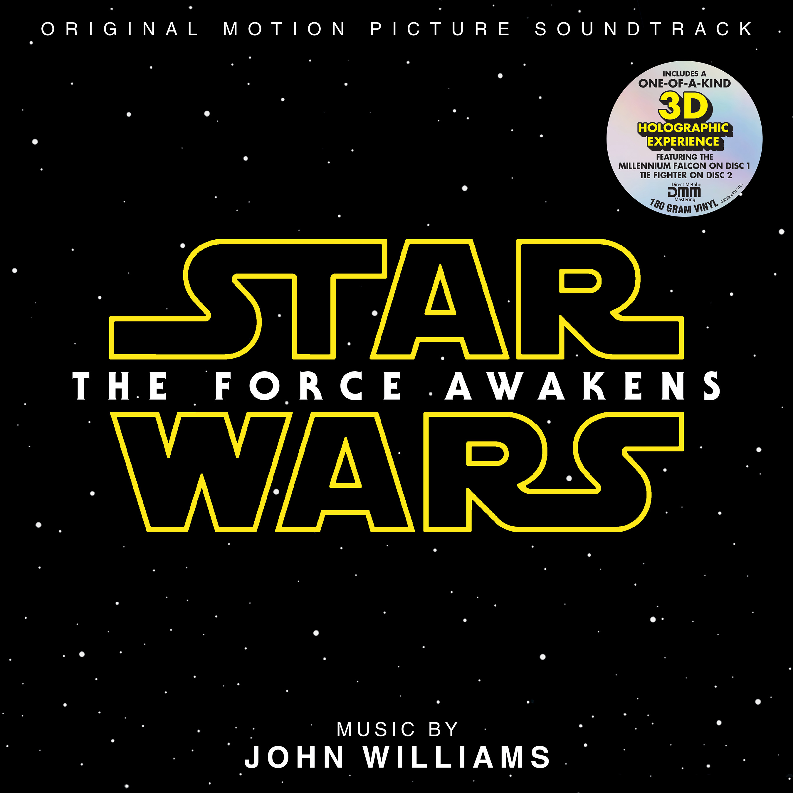 Star Wars: The Force Awakens Soundtrack 2 LP Hologram Vinyl with Sticker