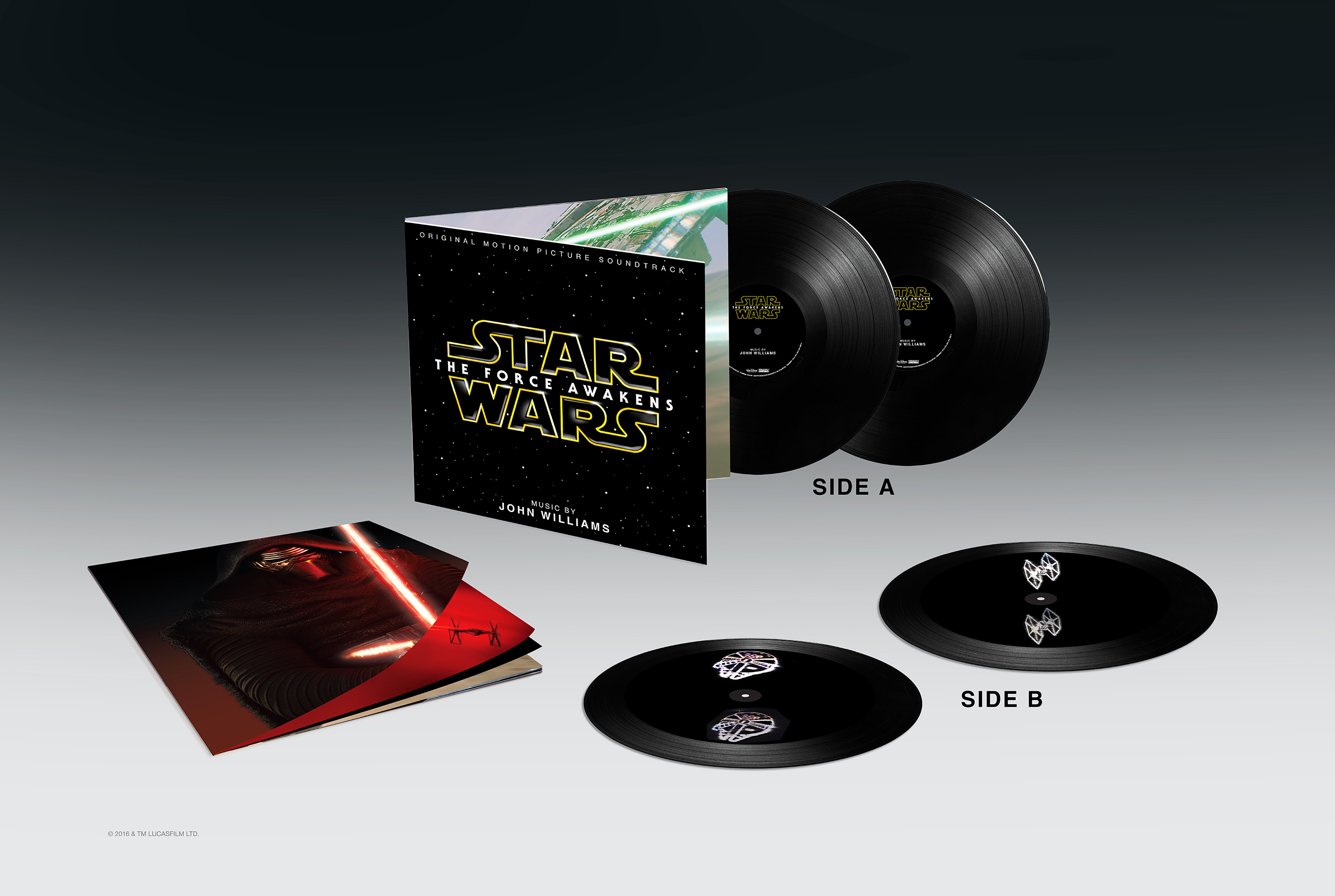Star Wars: The Force Awakens Soundtrack 2 LP Hologram Vinyl without title