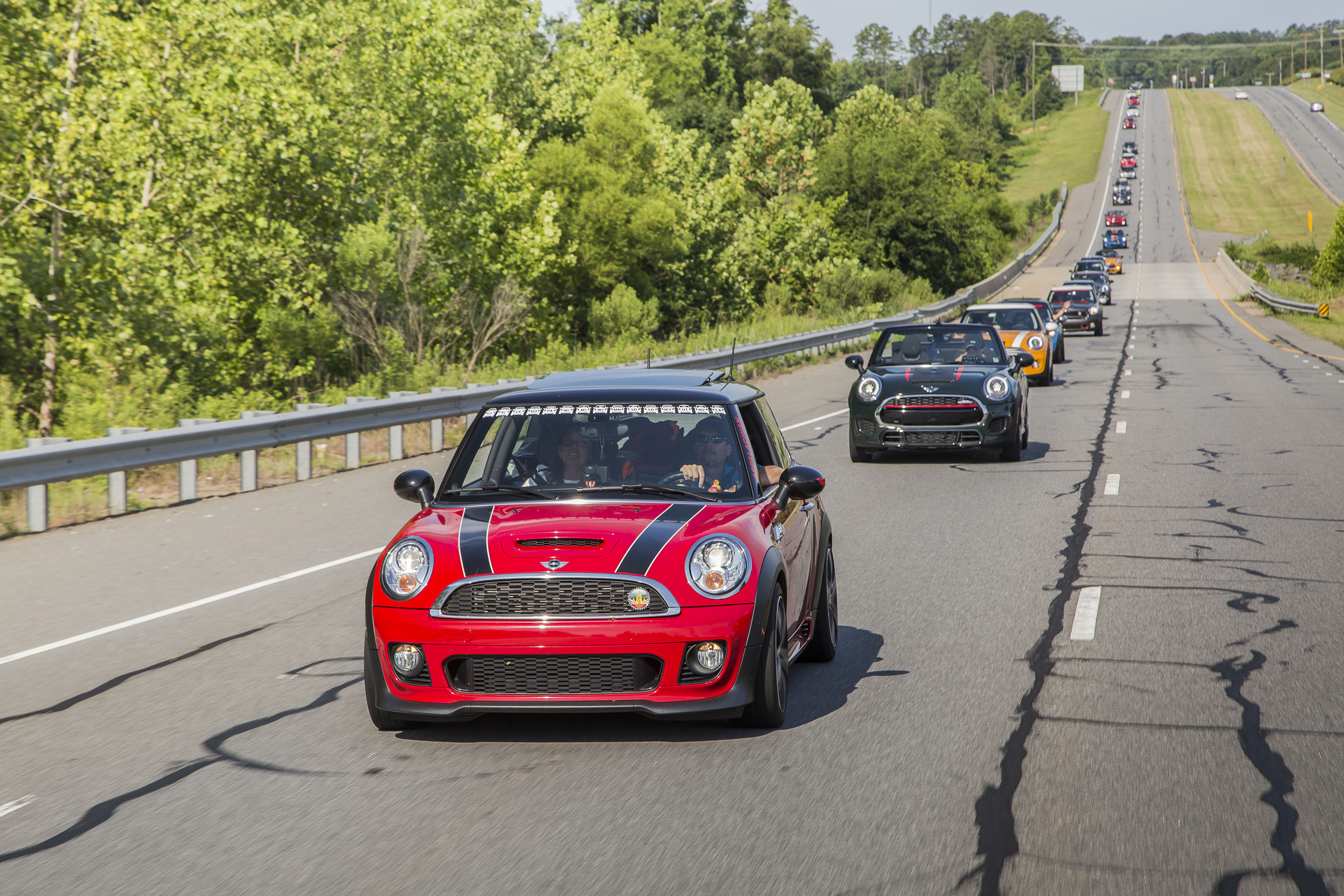 MINI TAKES THE STATES 2016 MOTORS ALONG AT 575 MILES AND COUNTING. Courtesy of MINI USA via Mike Shaffer.
