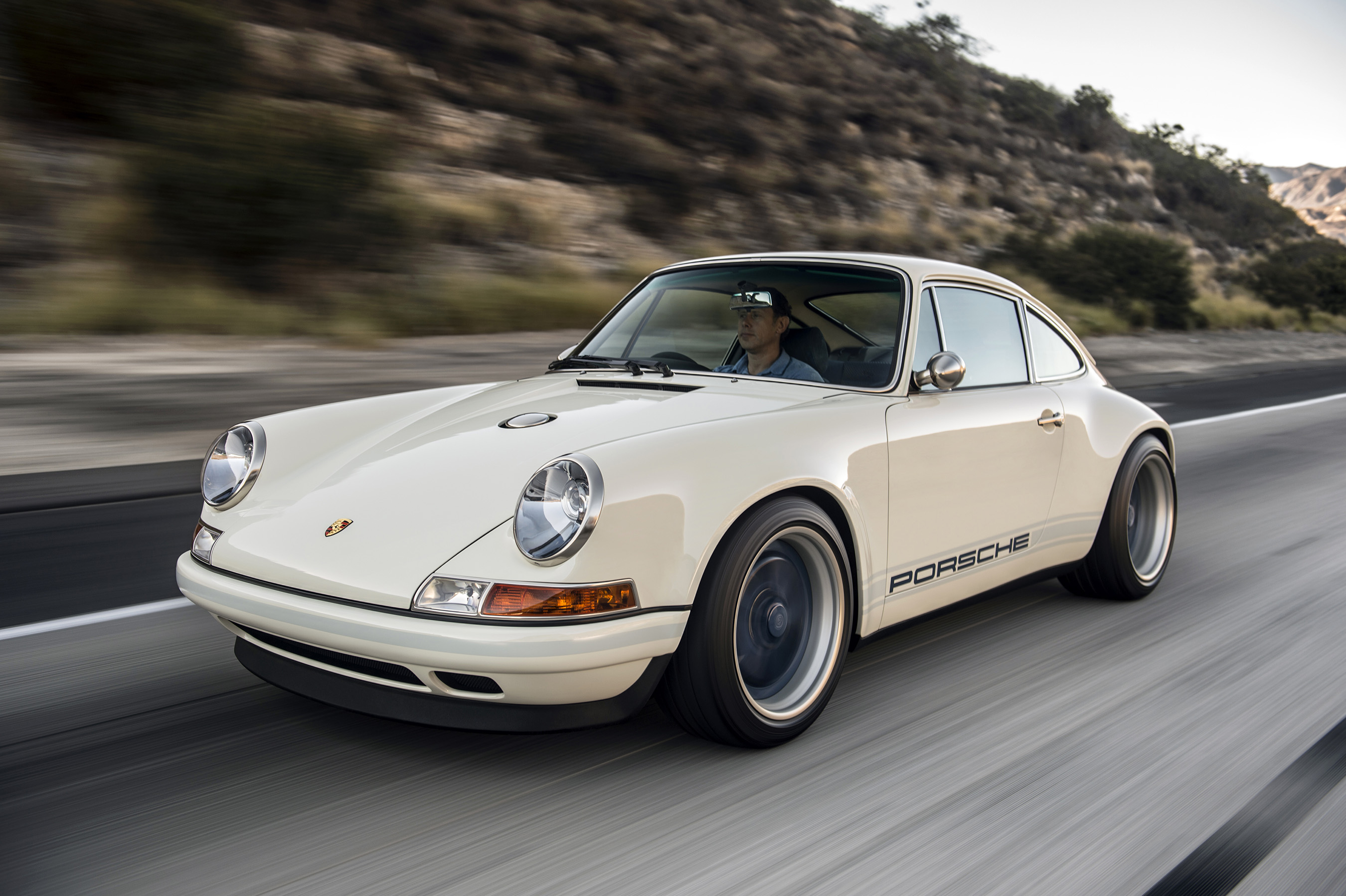 "Known as ""Newcastle"" for its geographic home, this 4.0-liter right-hand-drive Porsche 911® restored by Singer Vehicle Design will be driven by UK favorite Chris Harris in 2016 Goodwood FOS Hillclimb"