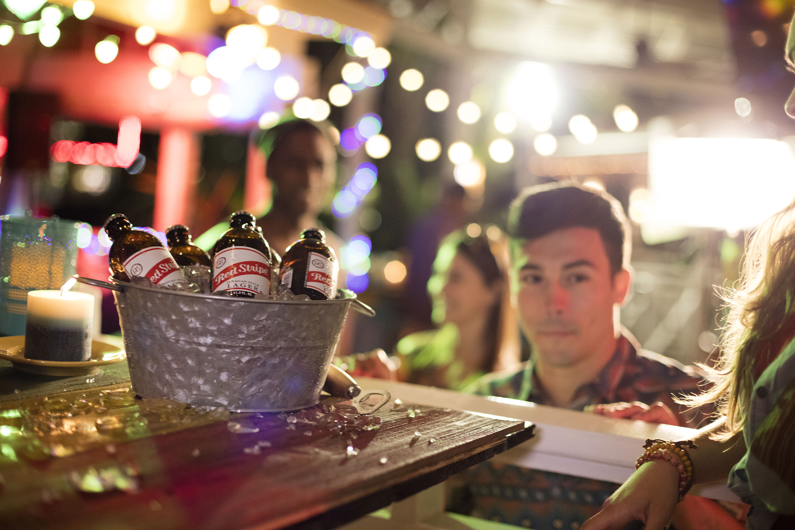 Red Stripe Beer Buckets: This pale lager, made in Jamaica, will have you and your crew drifting off to the islands.