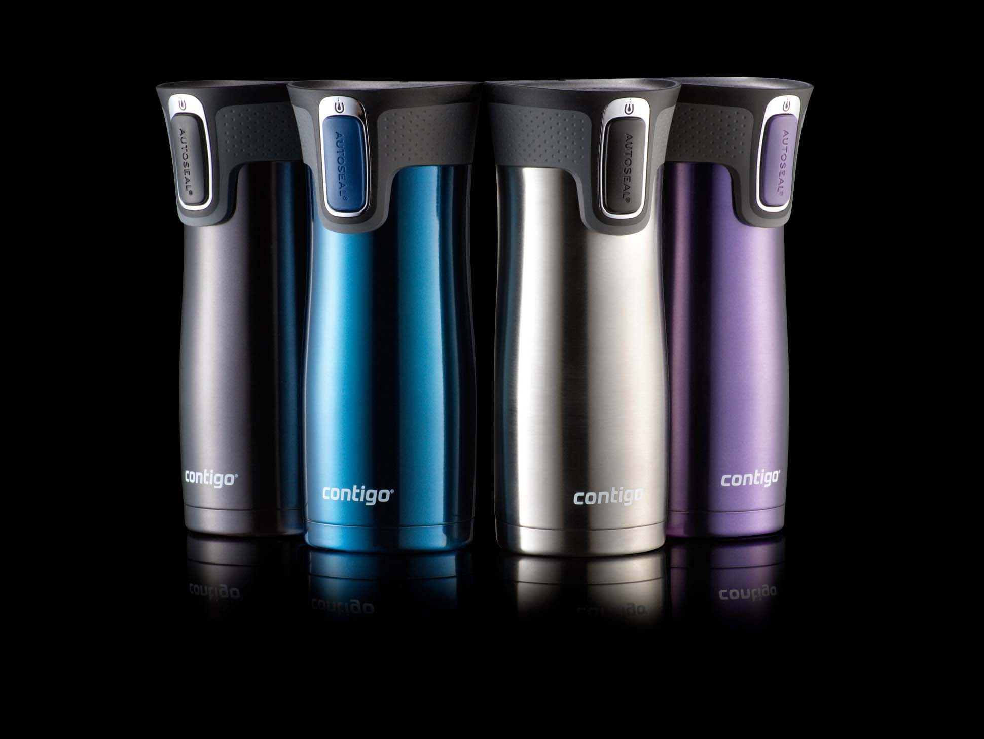 Contigo® patented AUTOSEAL® technology automatically seals in between each sip for spill- and leak-proof use during your on-the-go lifestyle.