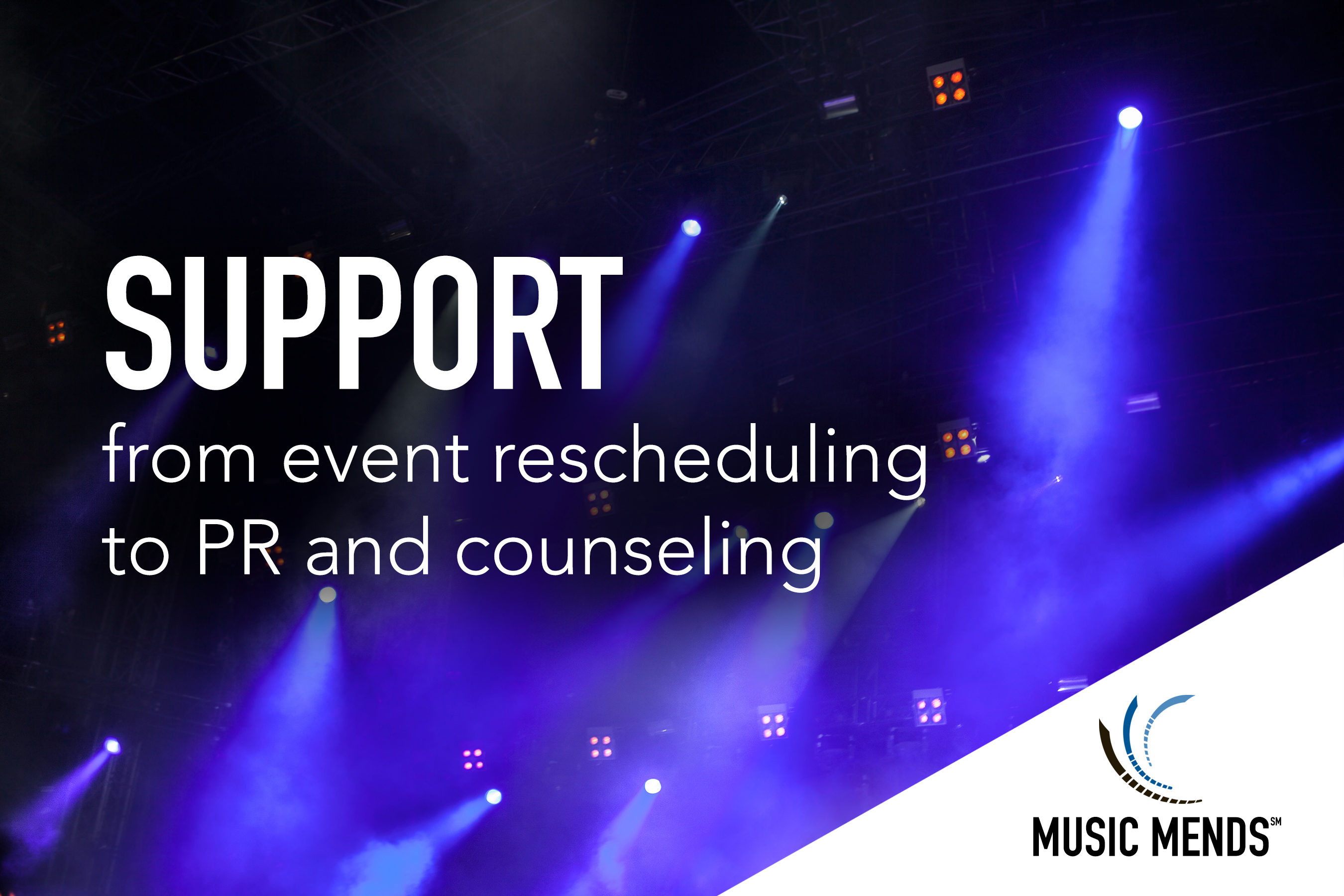 Music Mends is designed to provide support to touring artists who wish to help mend communities following an act of terrorism that interrupts a live performance