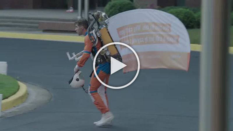 B-roll footage jet packs at Vonage Business Tech Takeover