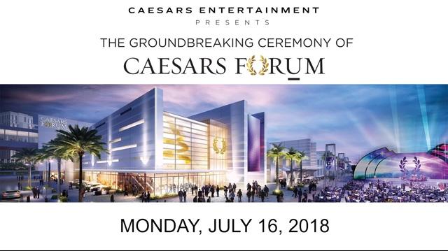 CAESARS FORUM Groundbreaking B-roll
